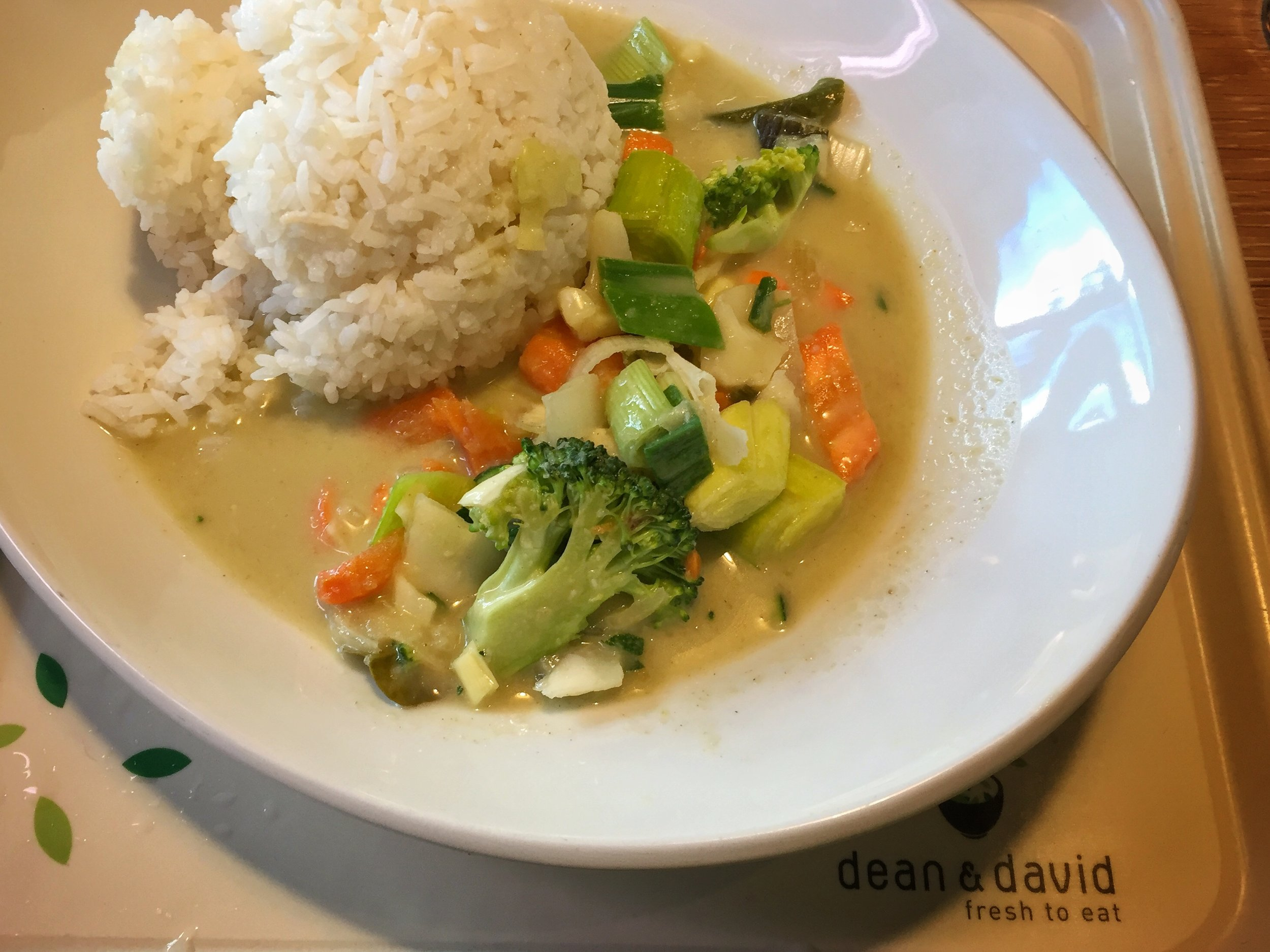 veggies & rice at Dean & David (Berlin)