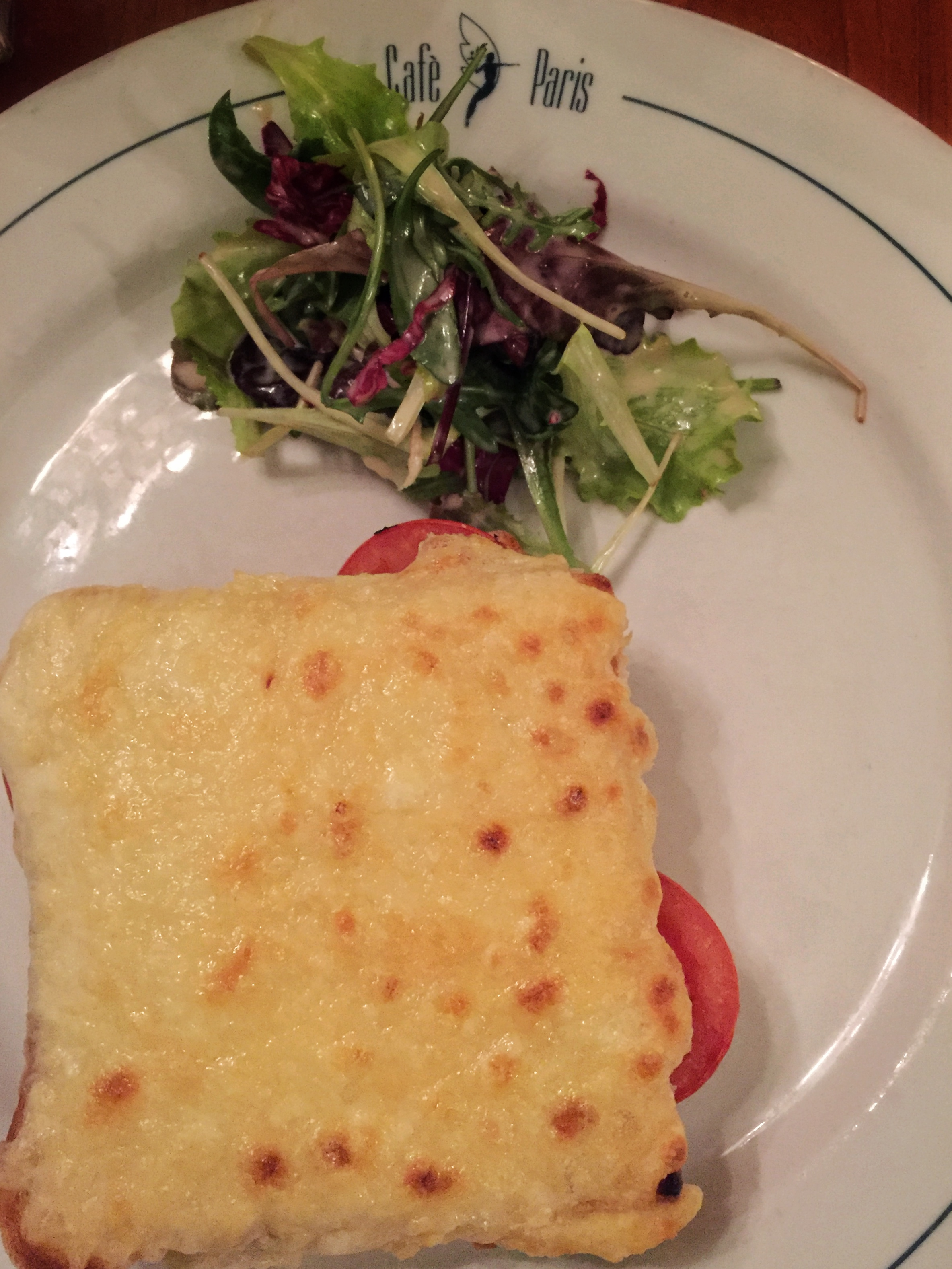 tomato & cheese croque at Café Paris (Hamburg)