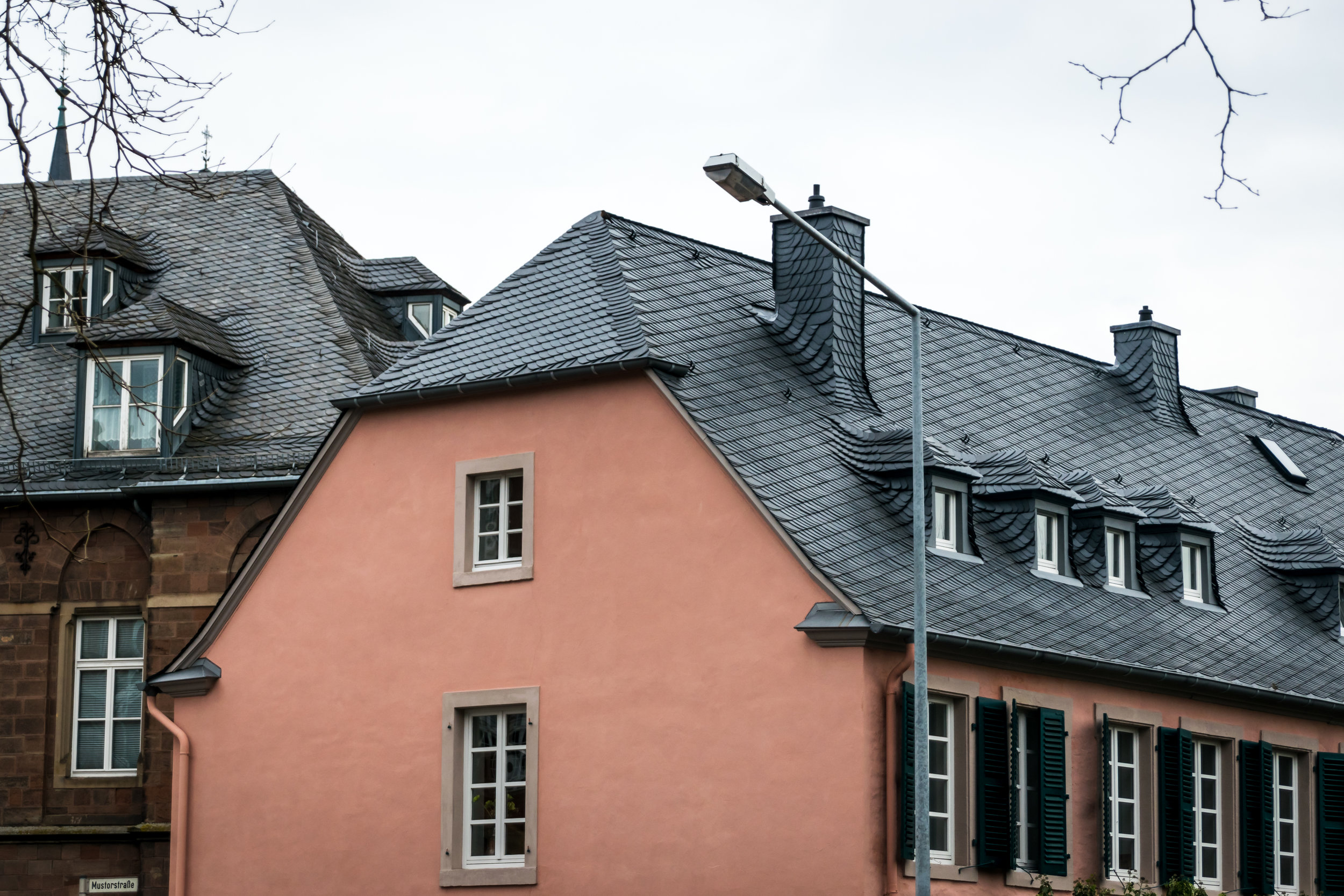 loving the slate tile roof details