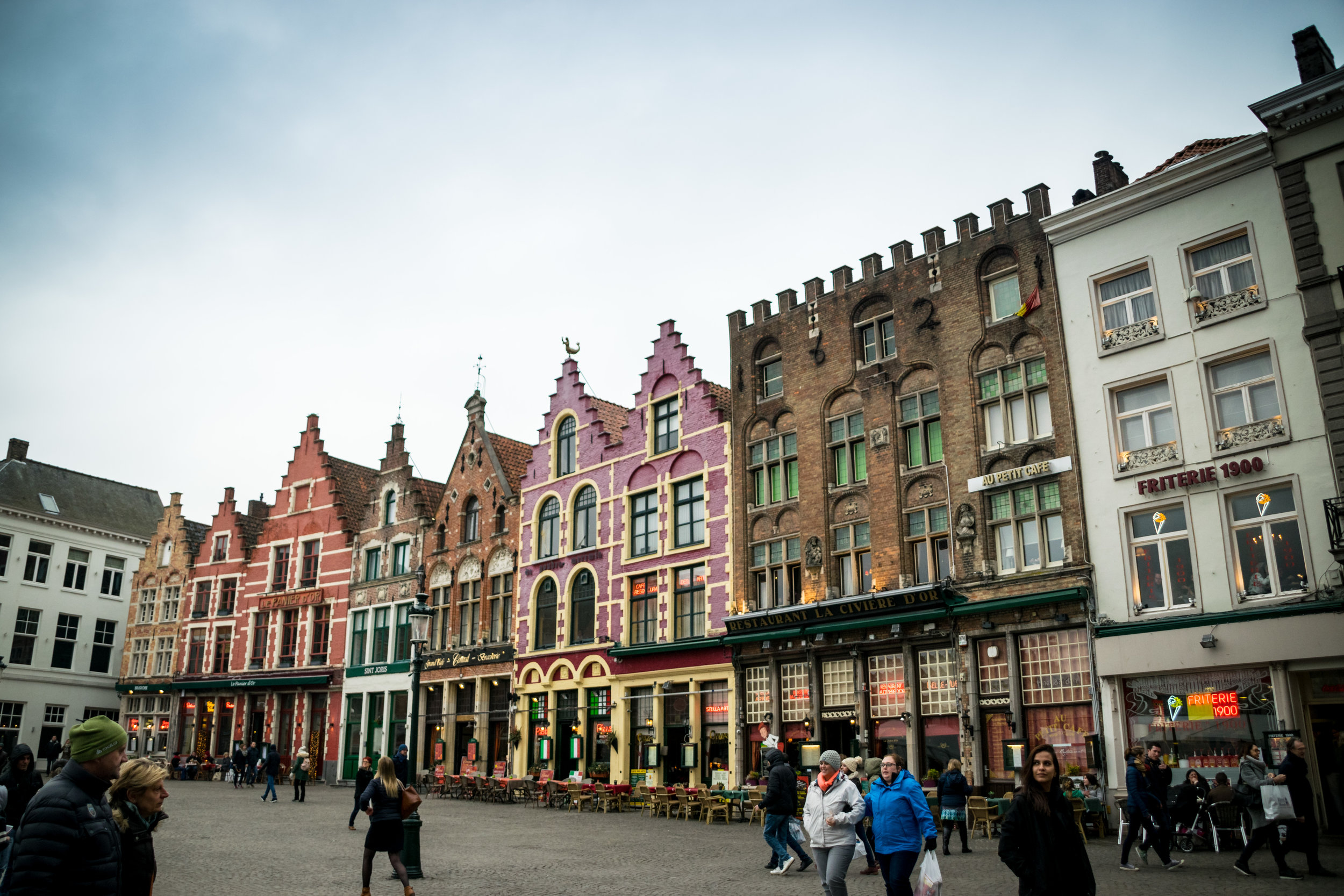 colorful buildings on the square