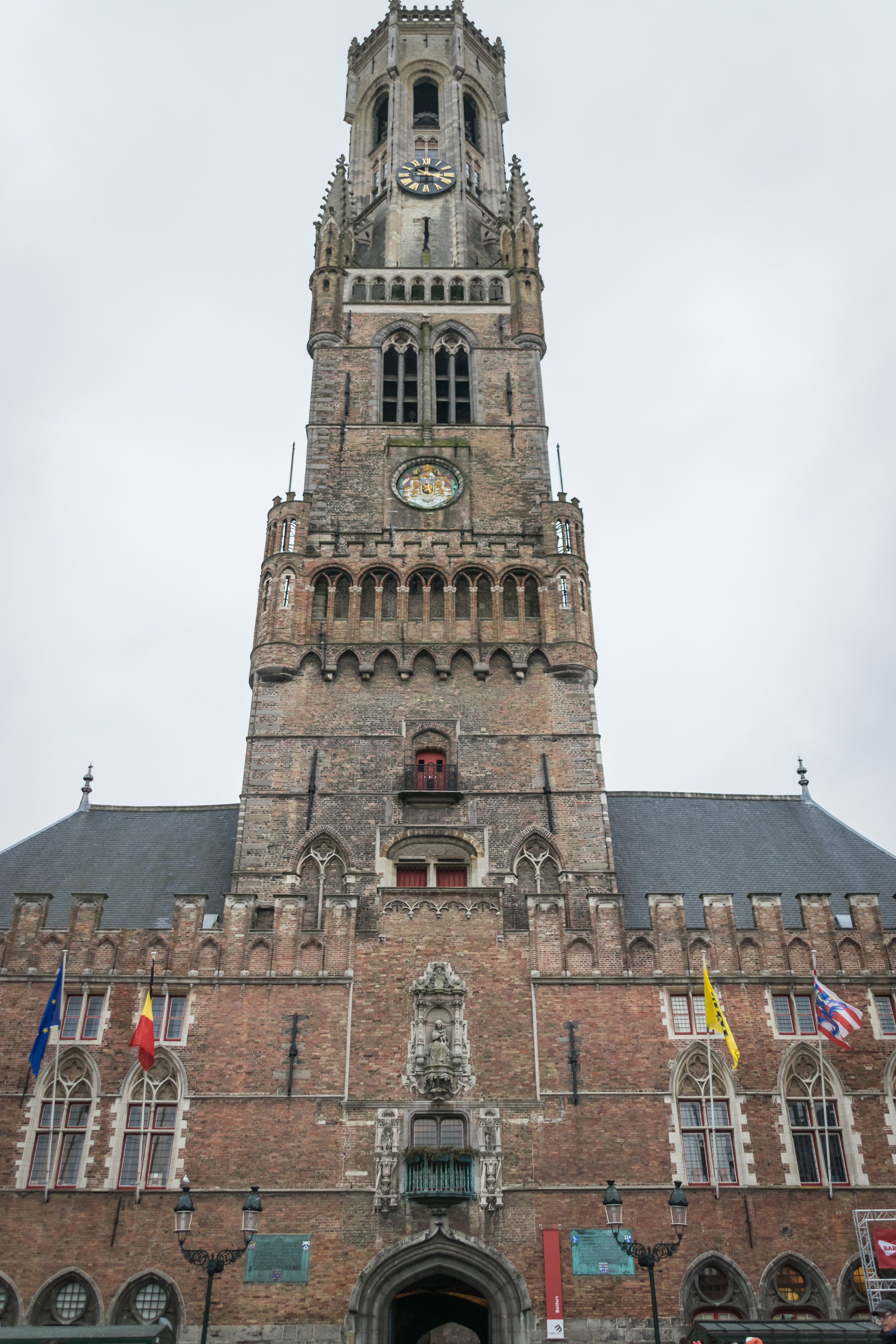 the Belfry is open for energetic climbers; it was taller in the Middle Ages before being struck by lightning and burning... multiple times