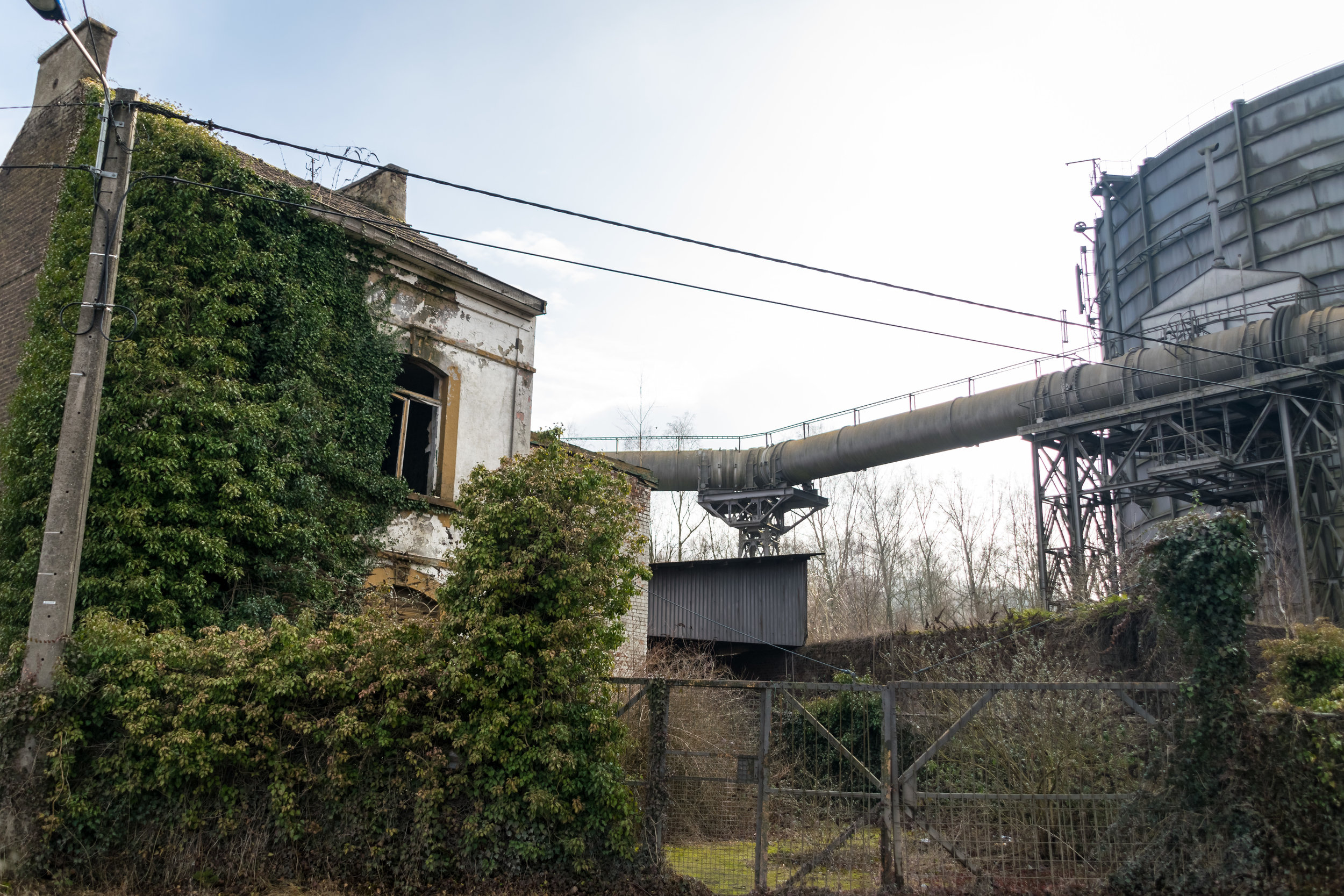 nearby abandoned house & industrial building
