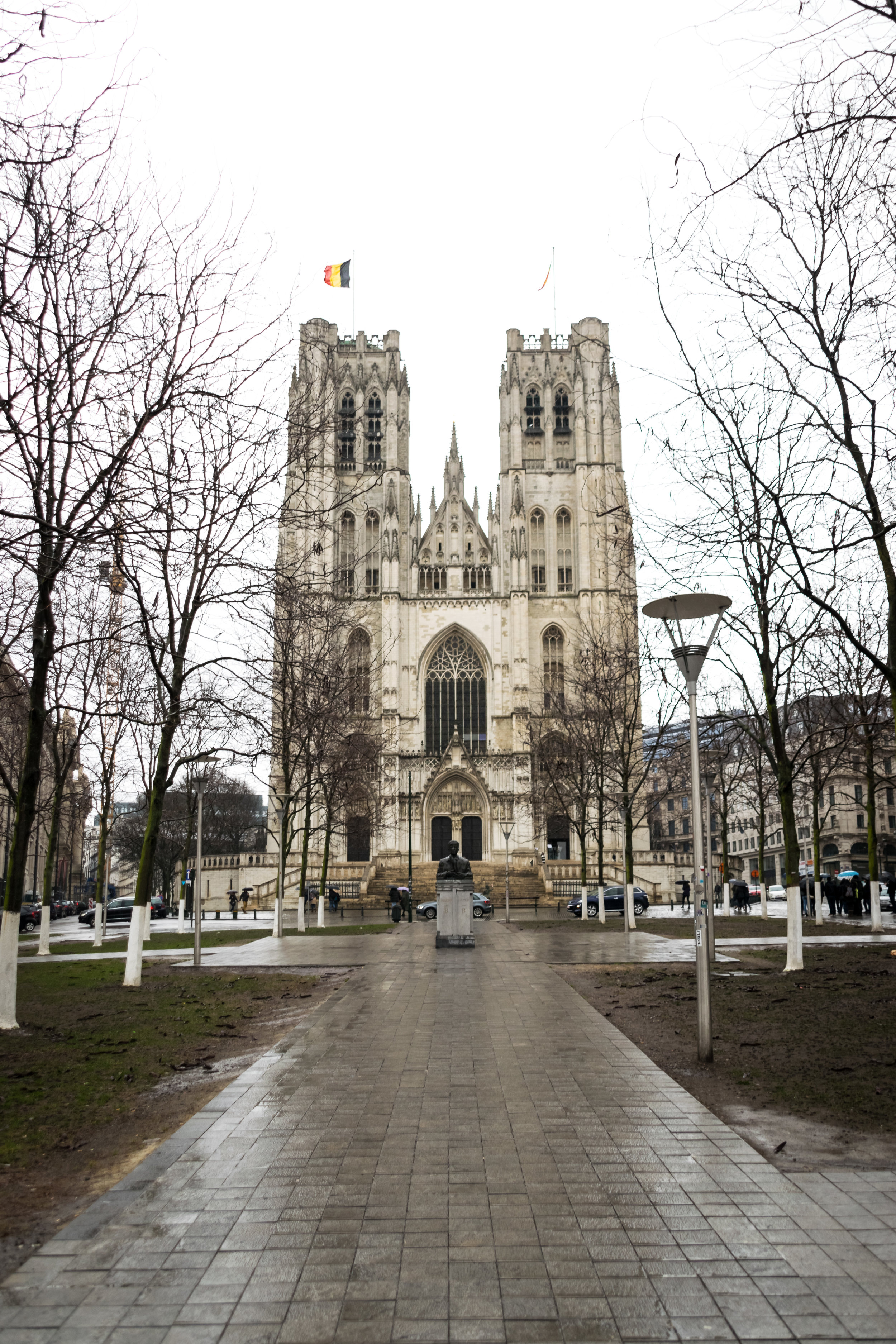 the gothic 9th-century St. Goedele/St. Michiels Cathedral
