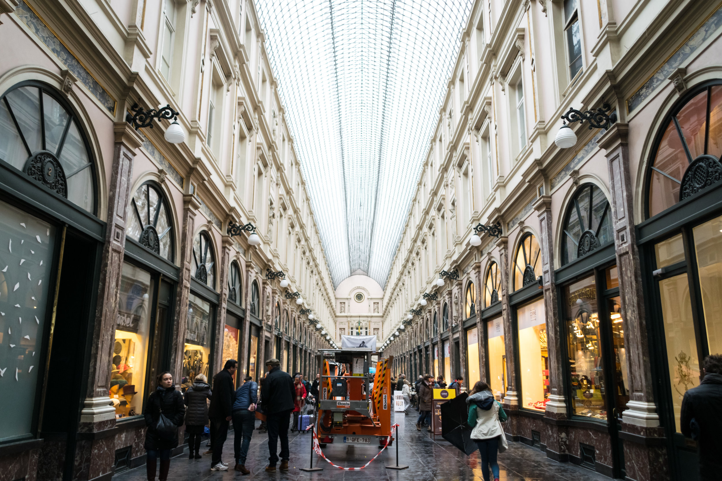 the 19th-century shopping arcade Galeries Royales Saint-Hubert