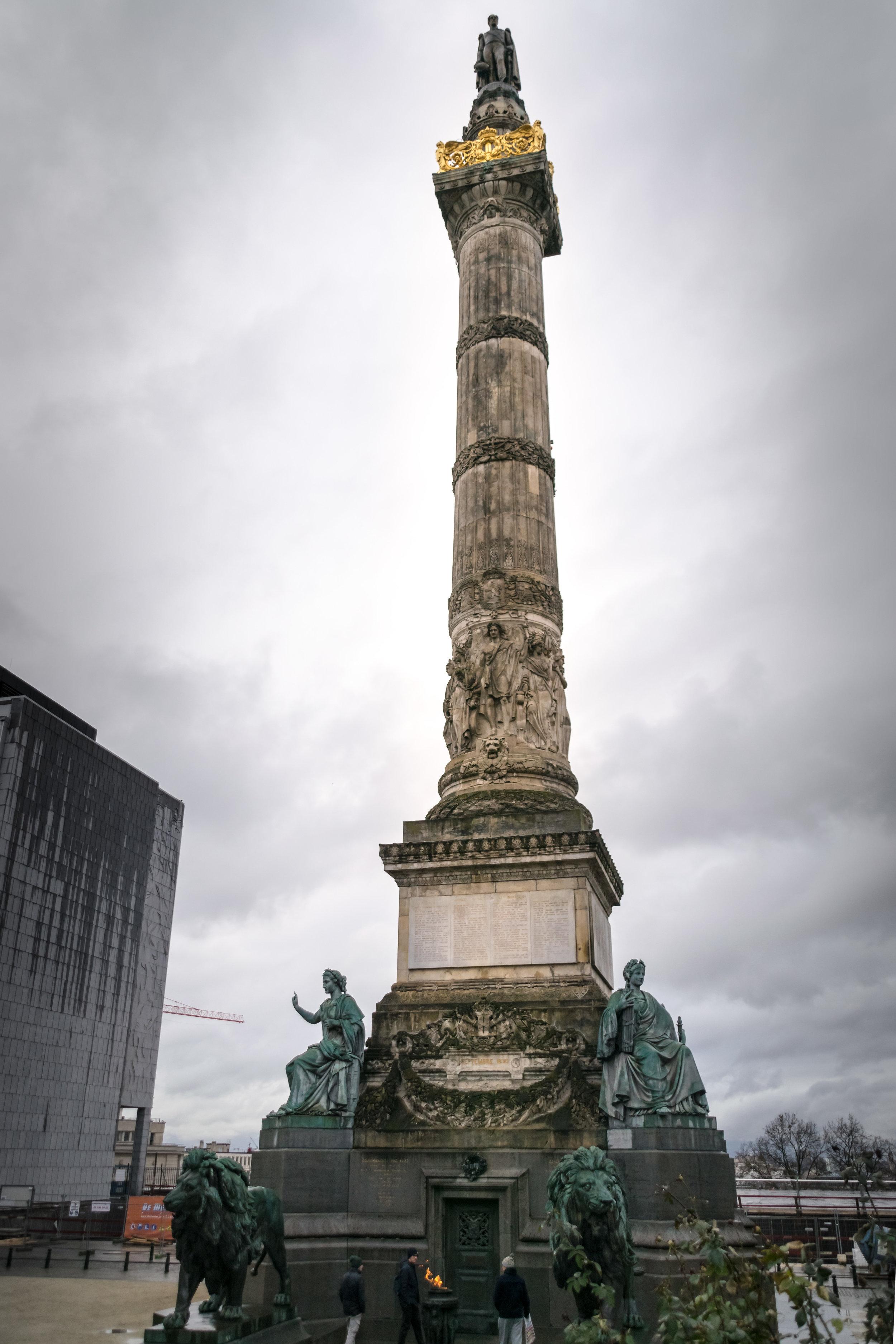 the 1850 Congress Column, celebrating Belgium's Constitution