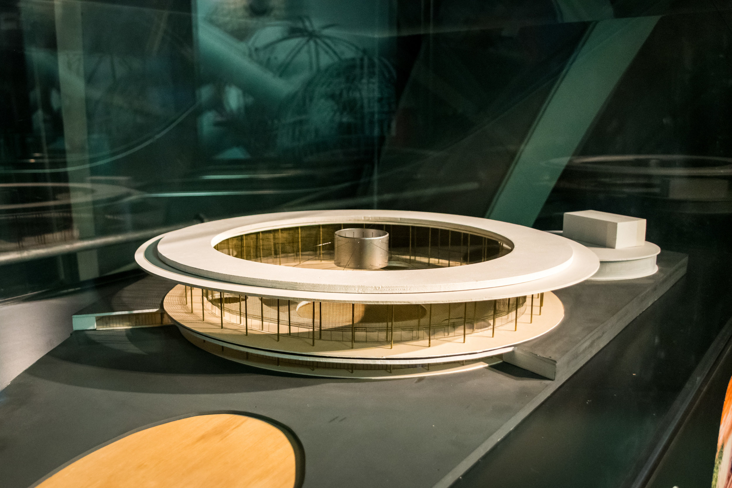 model of USA pavilion