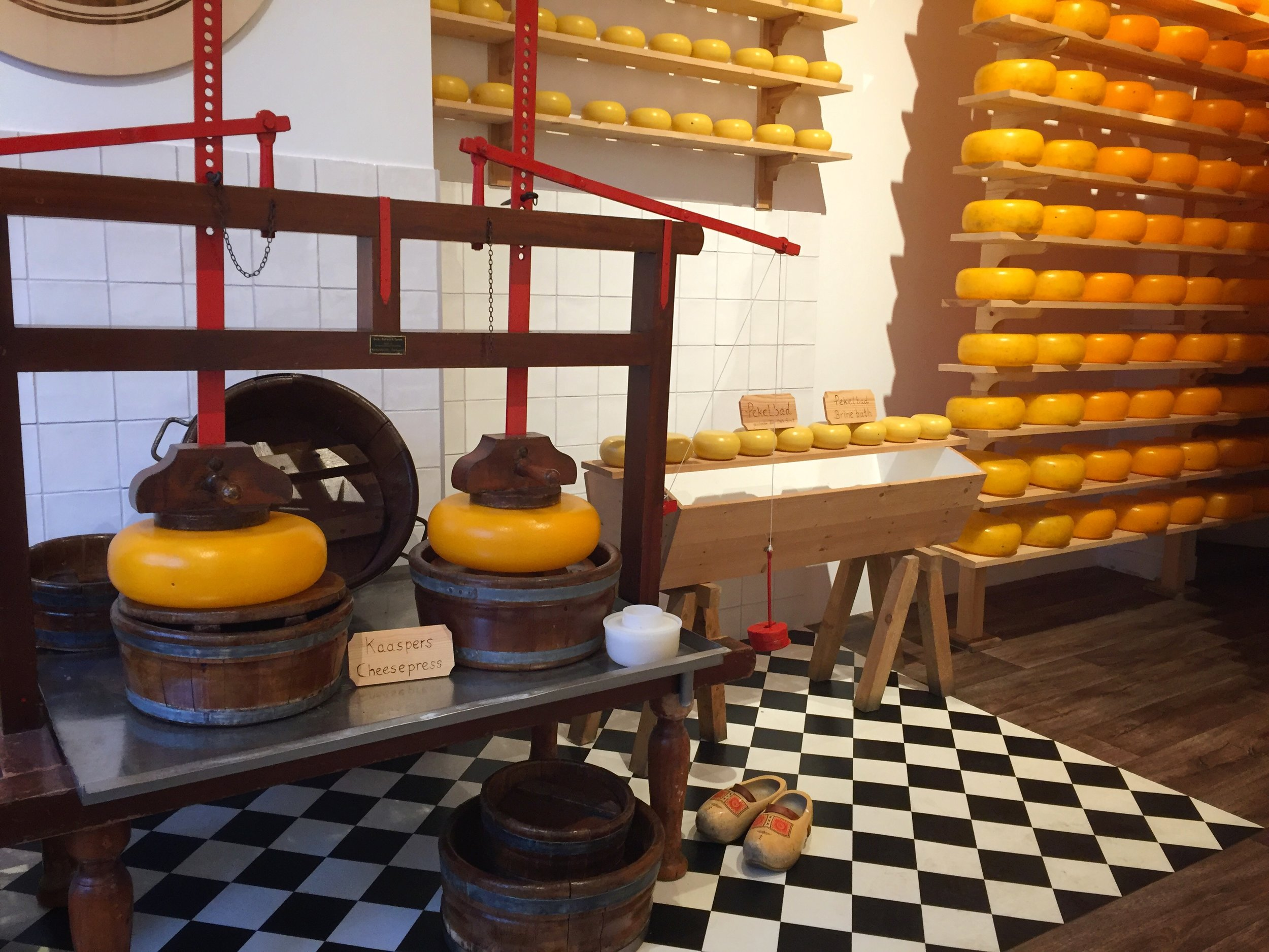petite cheese museum at Henri Willig shop (Amsterdam)
