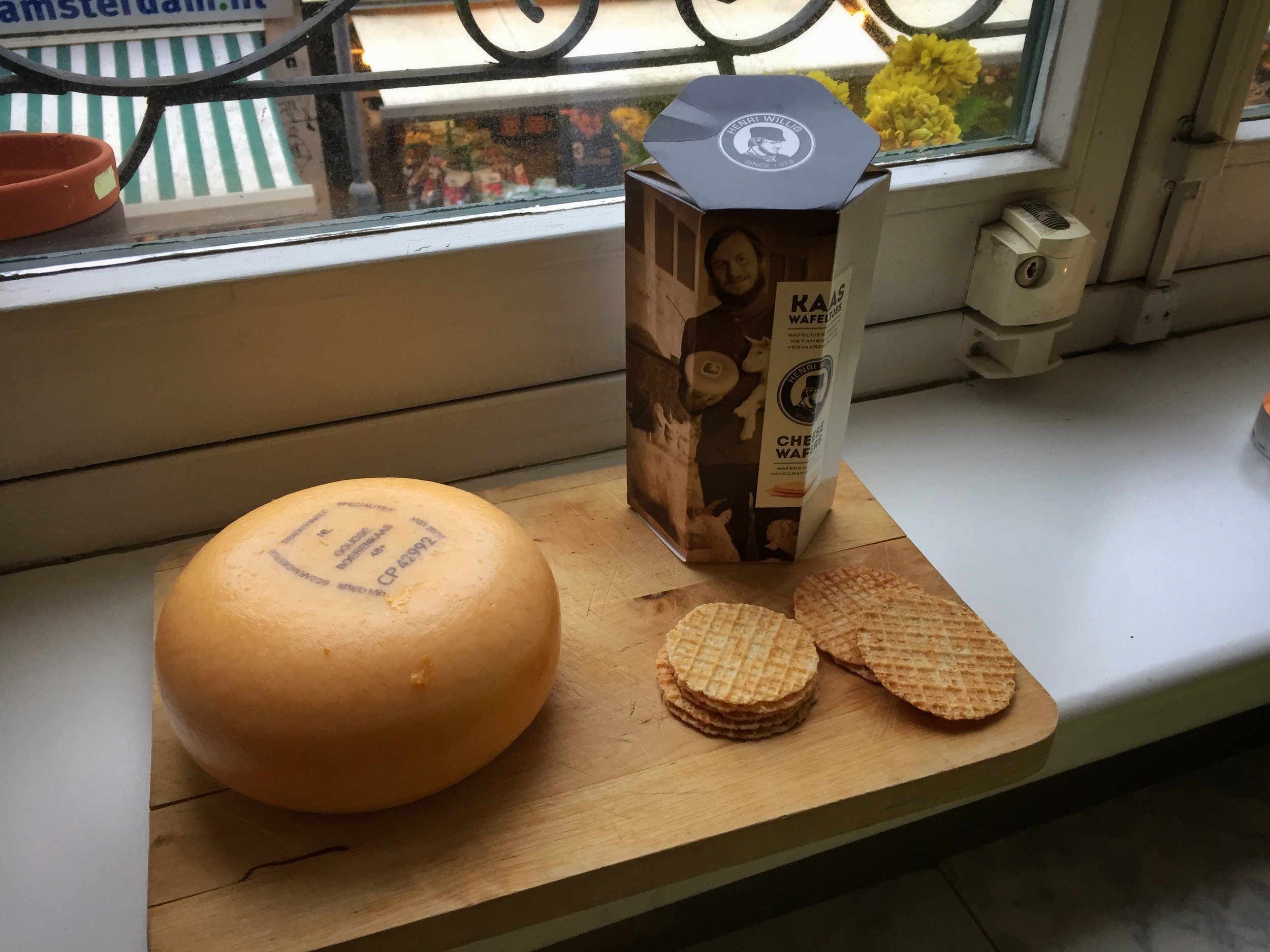 a raw, creamy cheese wheel made its way home with me
