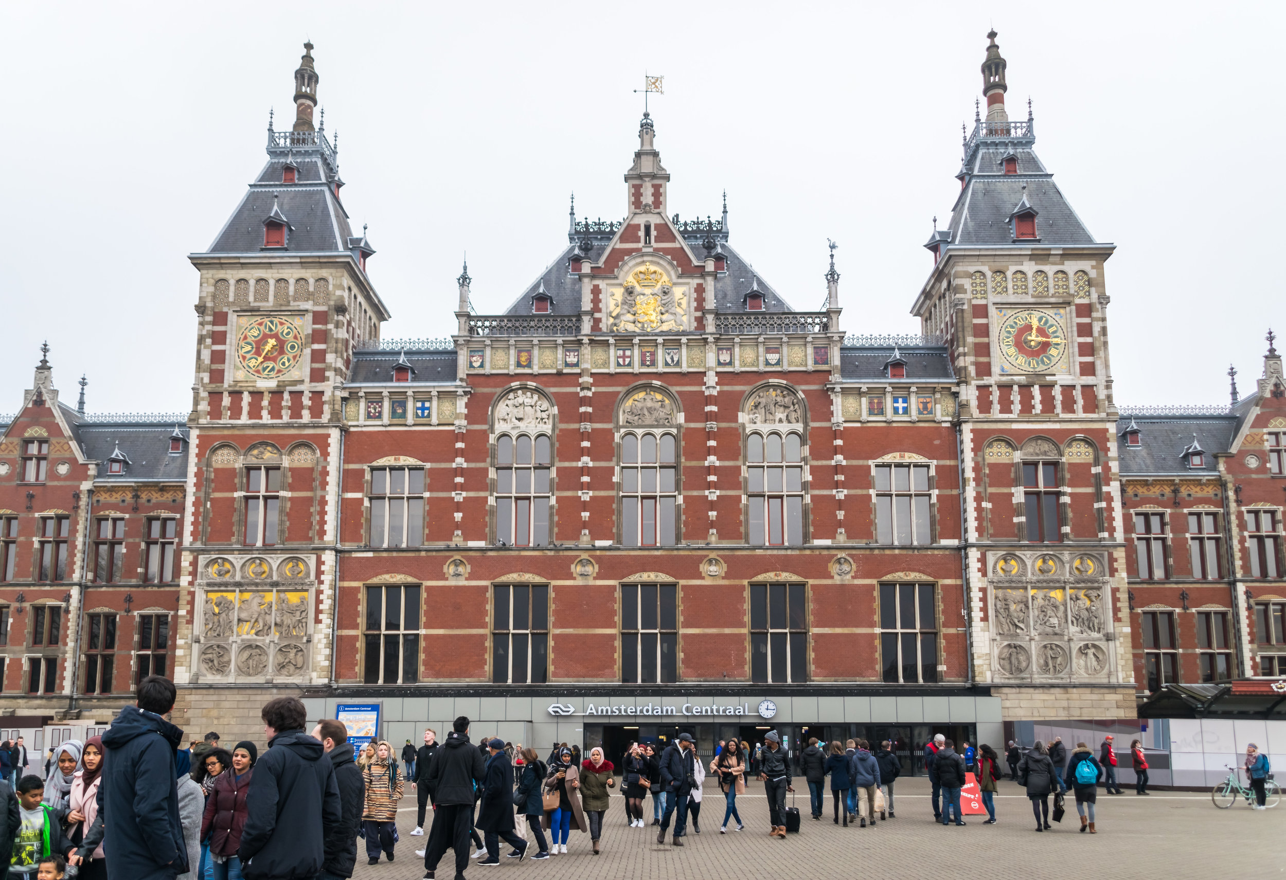 the 1884 central station designed by Pierre Cuypers