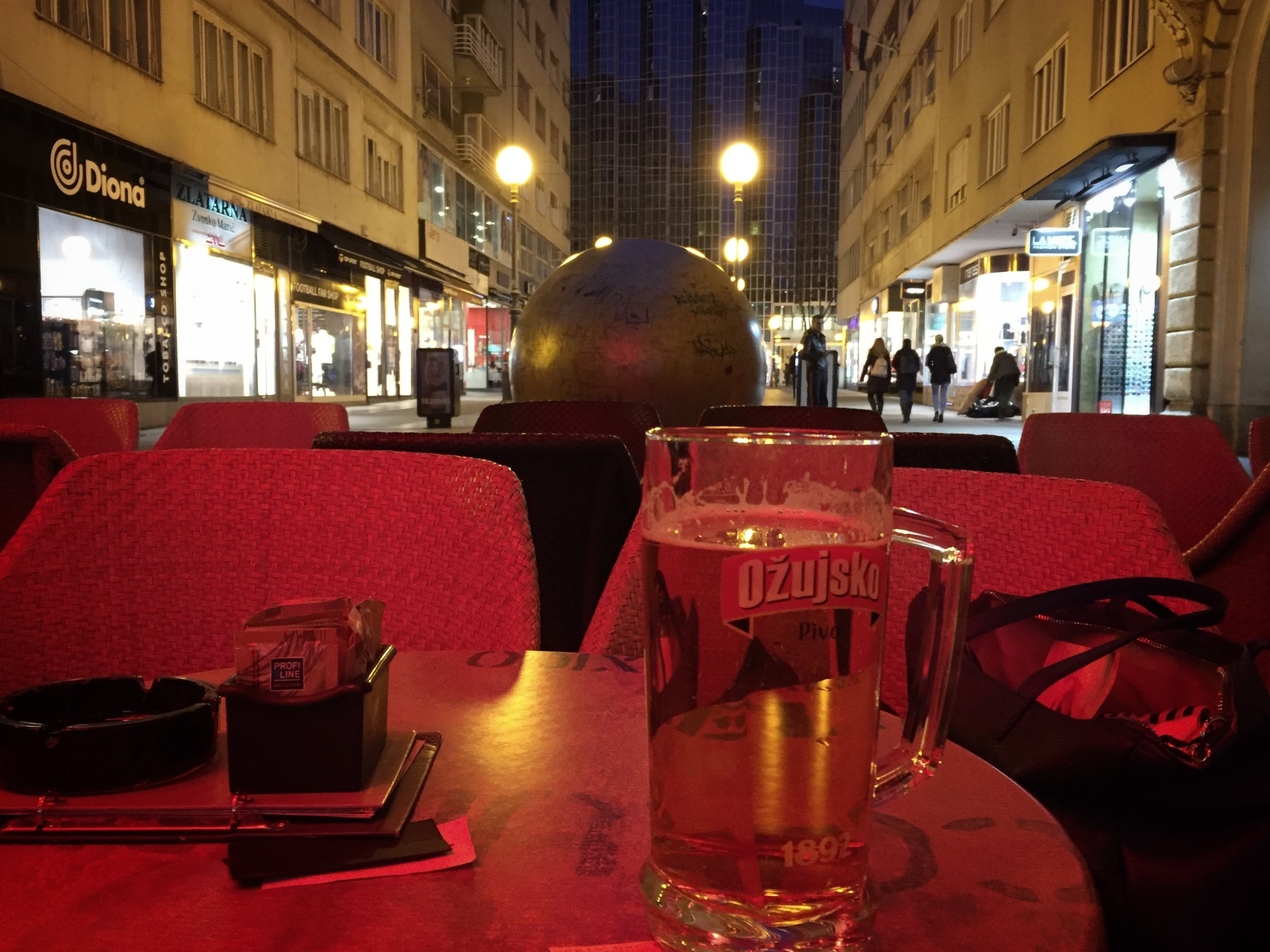 beer & people watching (Zagreb)