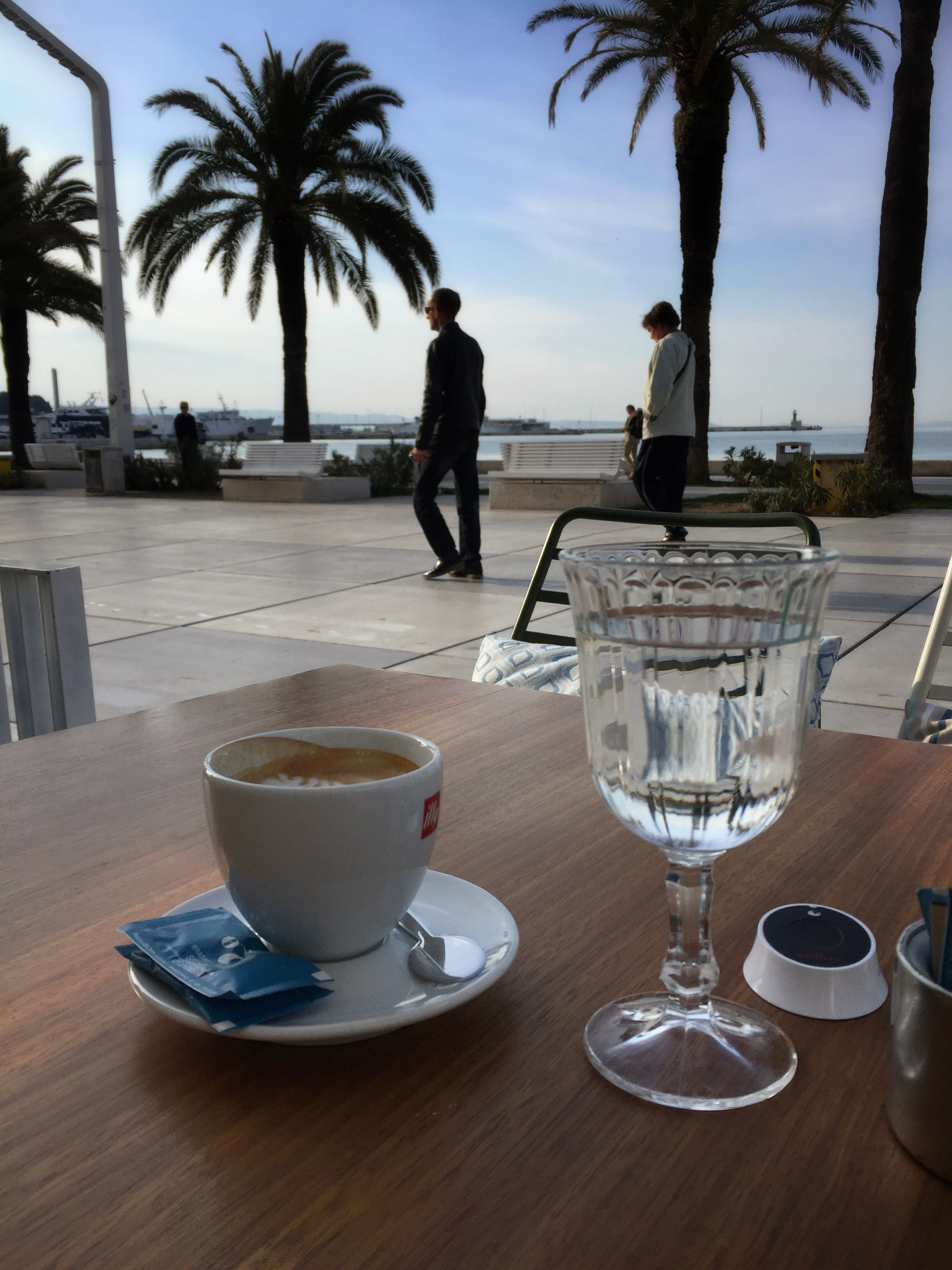 coffee with a view at Restaurant Brasserie on 7 (Split)
