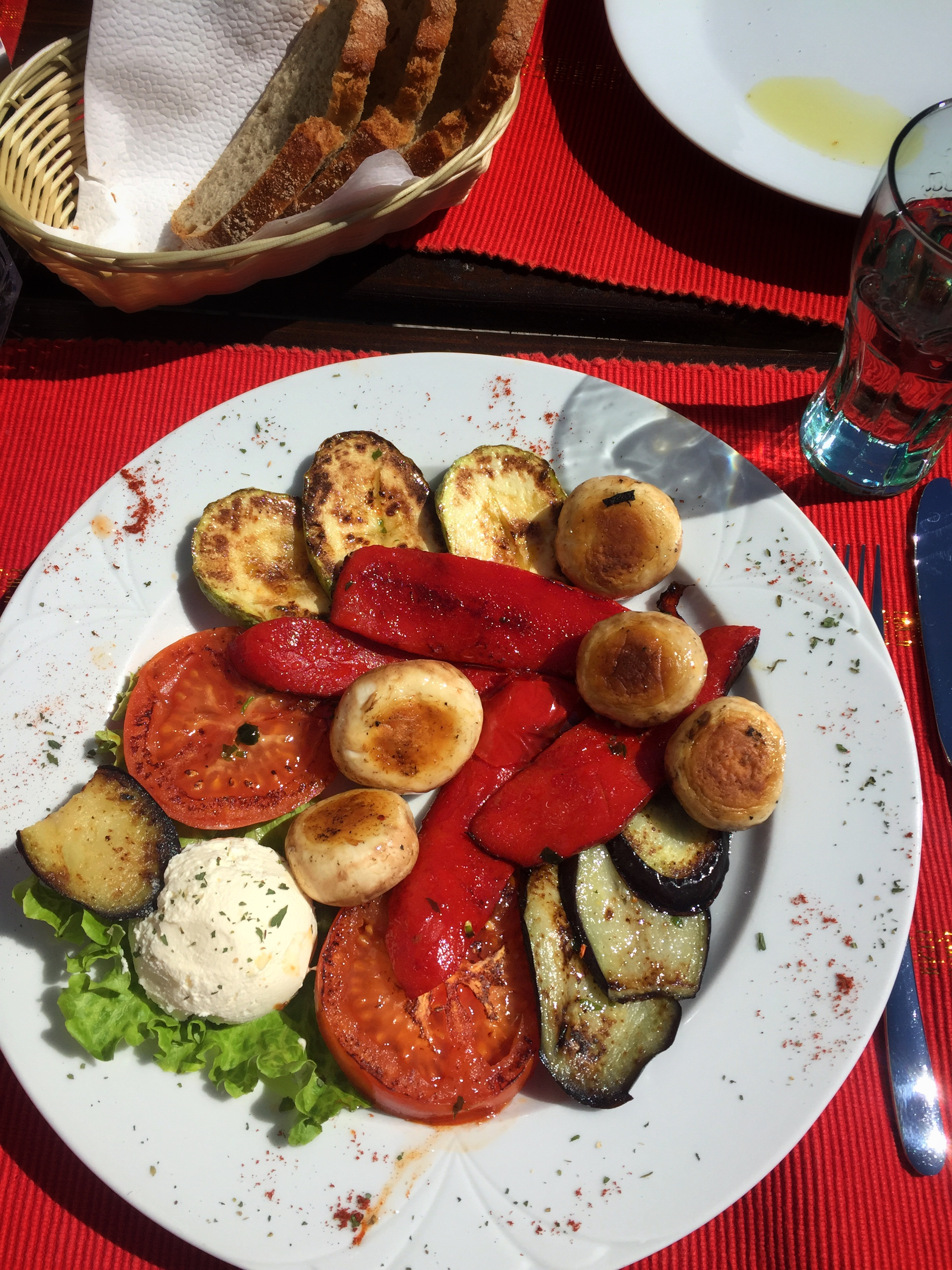 grilled vegetables & cheese at Monte Rosa (Mostar)