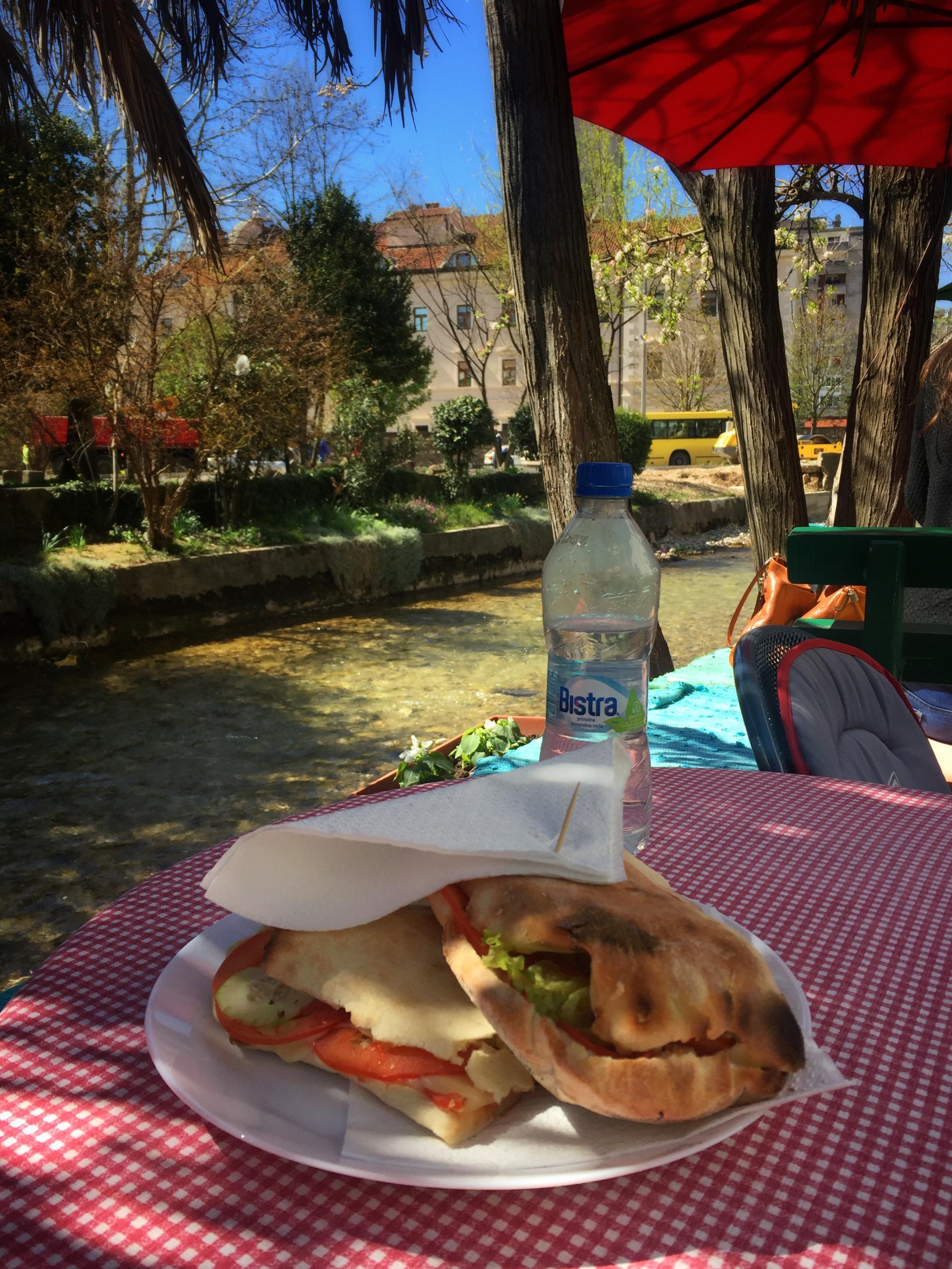 grilled vegetable pita at Niđe veze (Mostar)