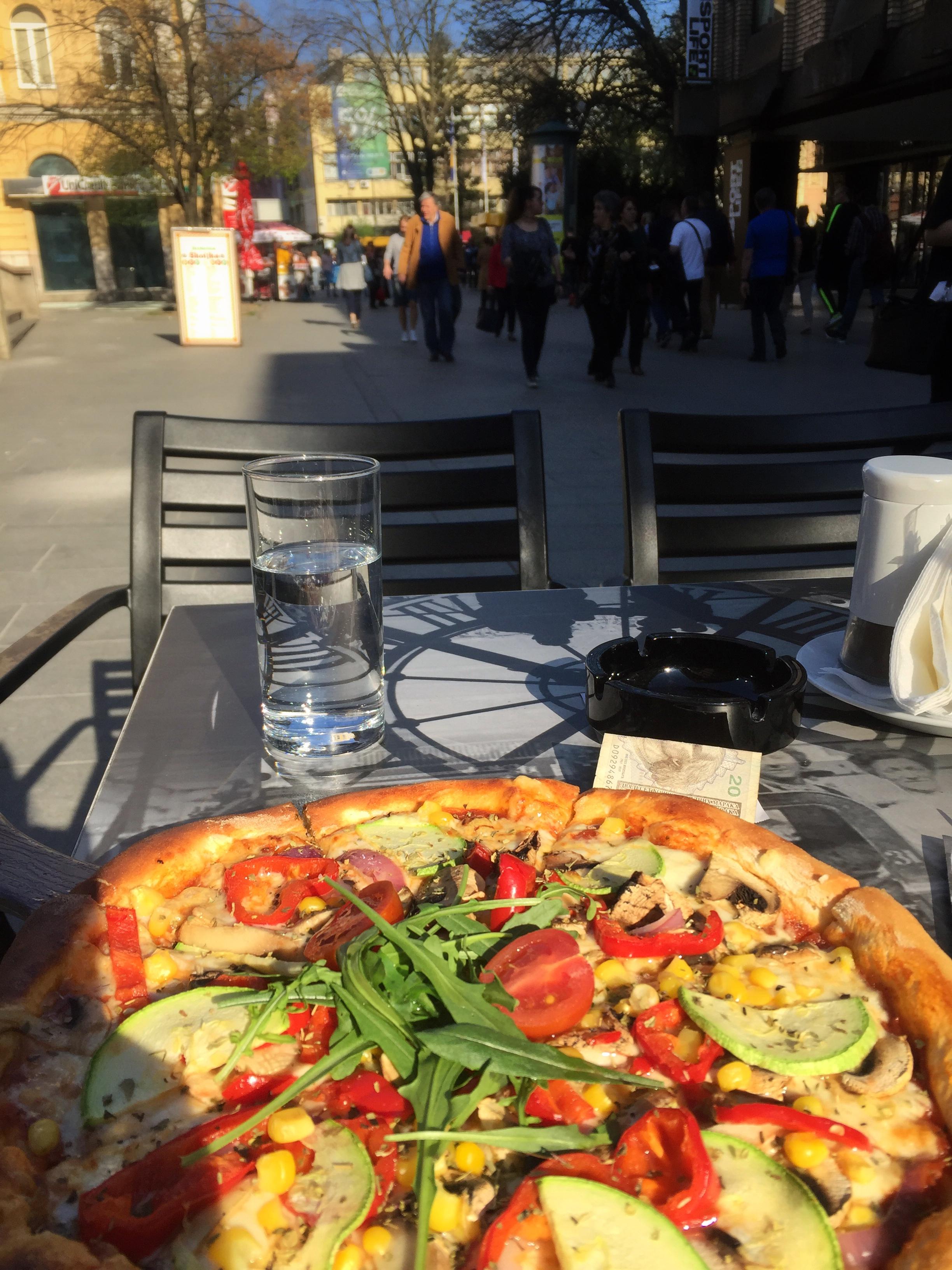 pizza at Harbi (Sarajevo)