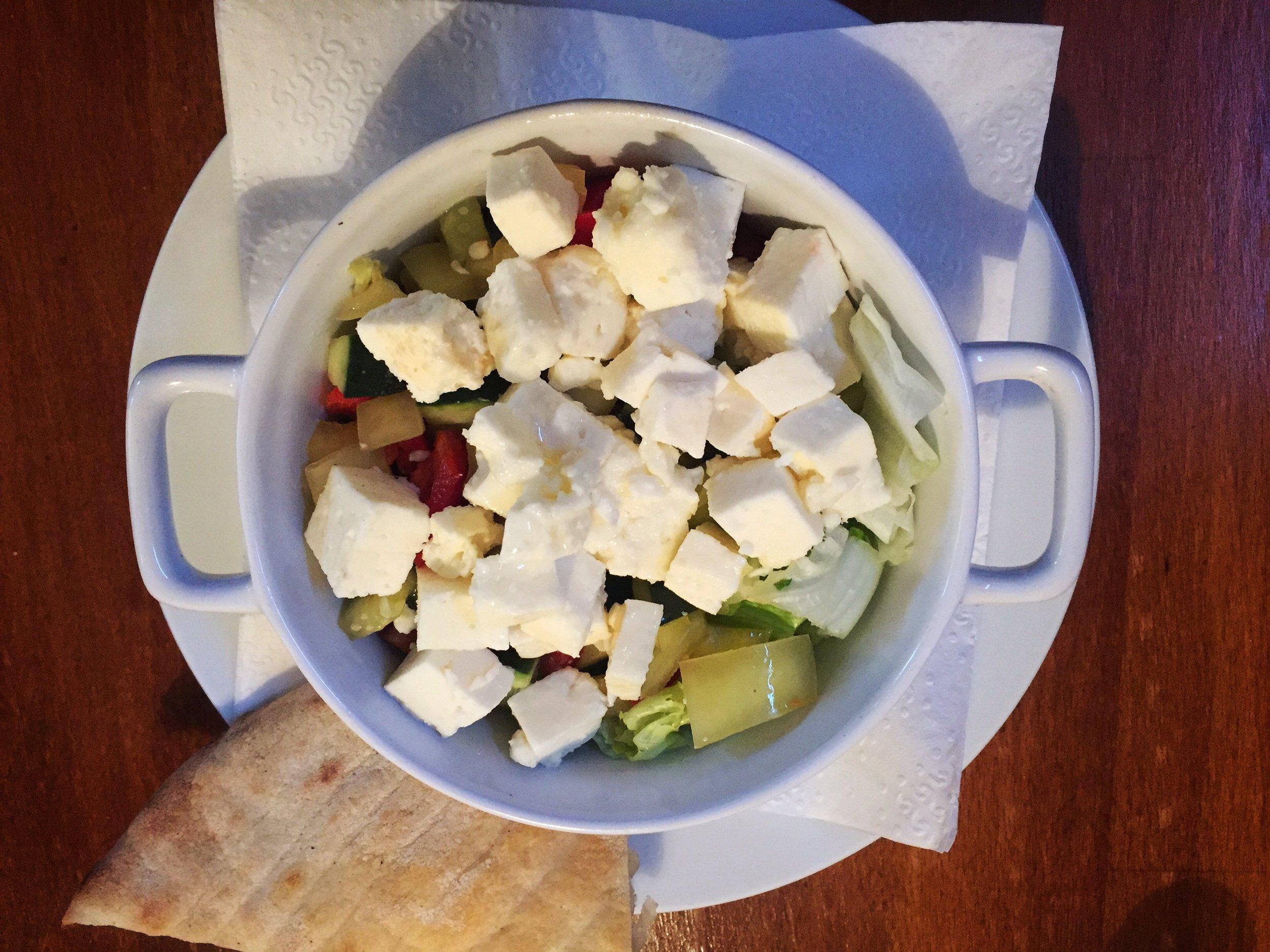 vegetable & cheese salad (Sarajevo)