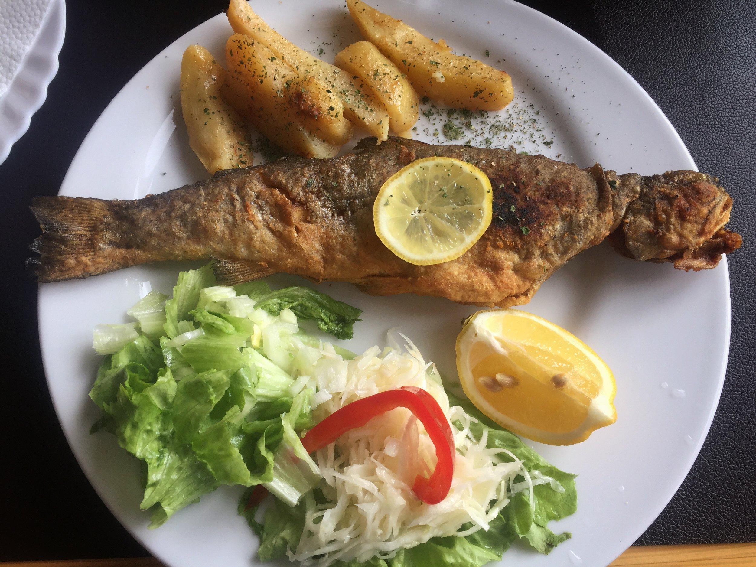 local fish (near Višegrad)