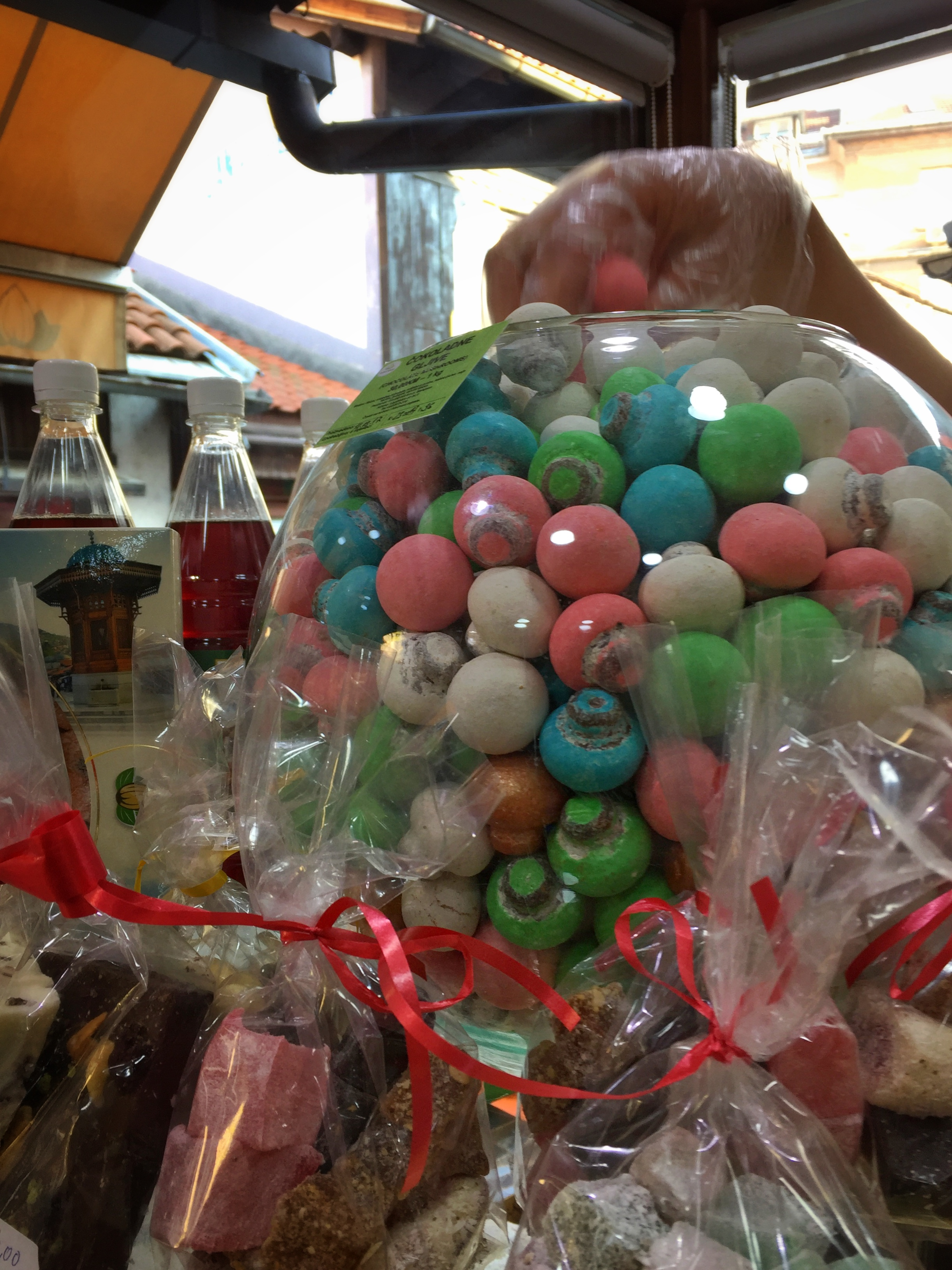 Badem's filled chocolate mushrooms (Sarajevo)