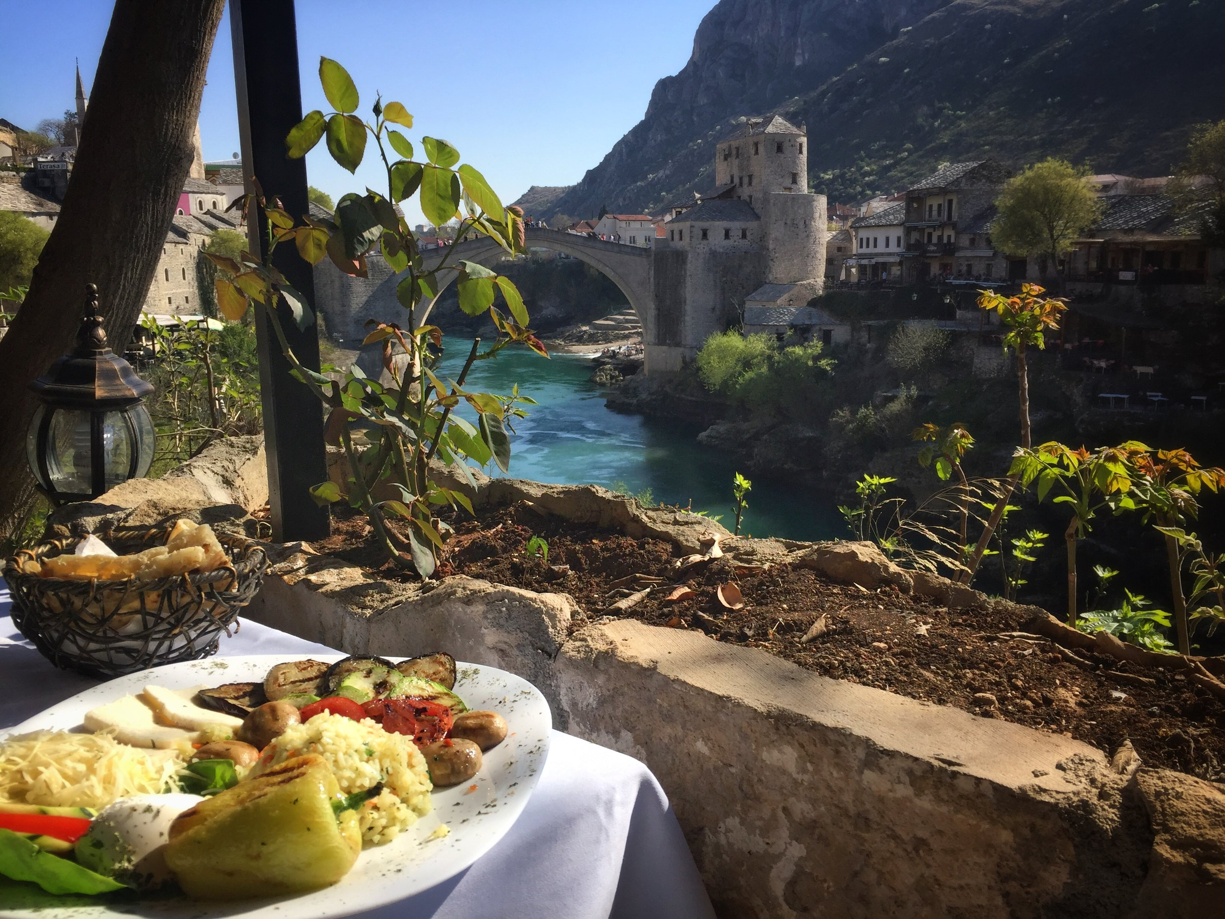 veggies with at view at Urban Grill (Mostar)