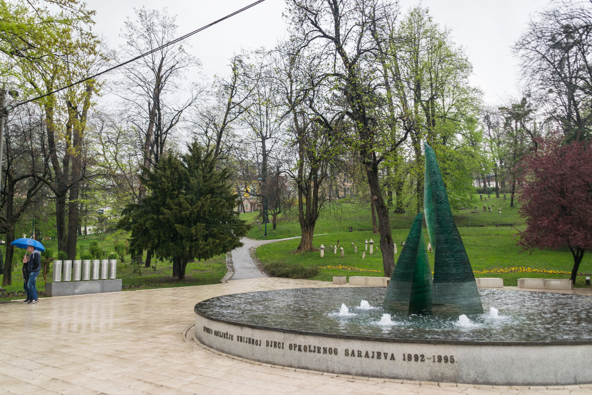 memorial to Sarajevo children killed during the siege