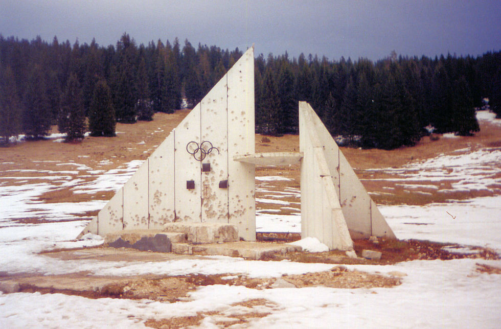 where medals were awarded at Igman, today (photo credit: atlasobscura.com)