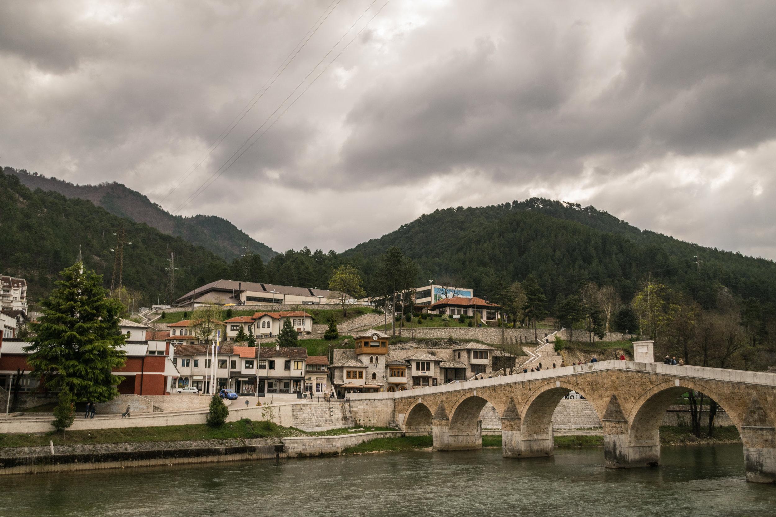 old stone bridge built in the 1600s