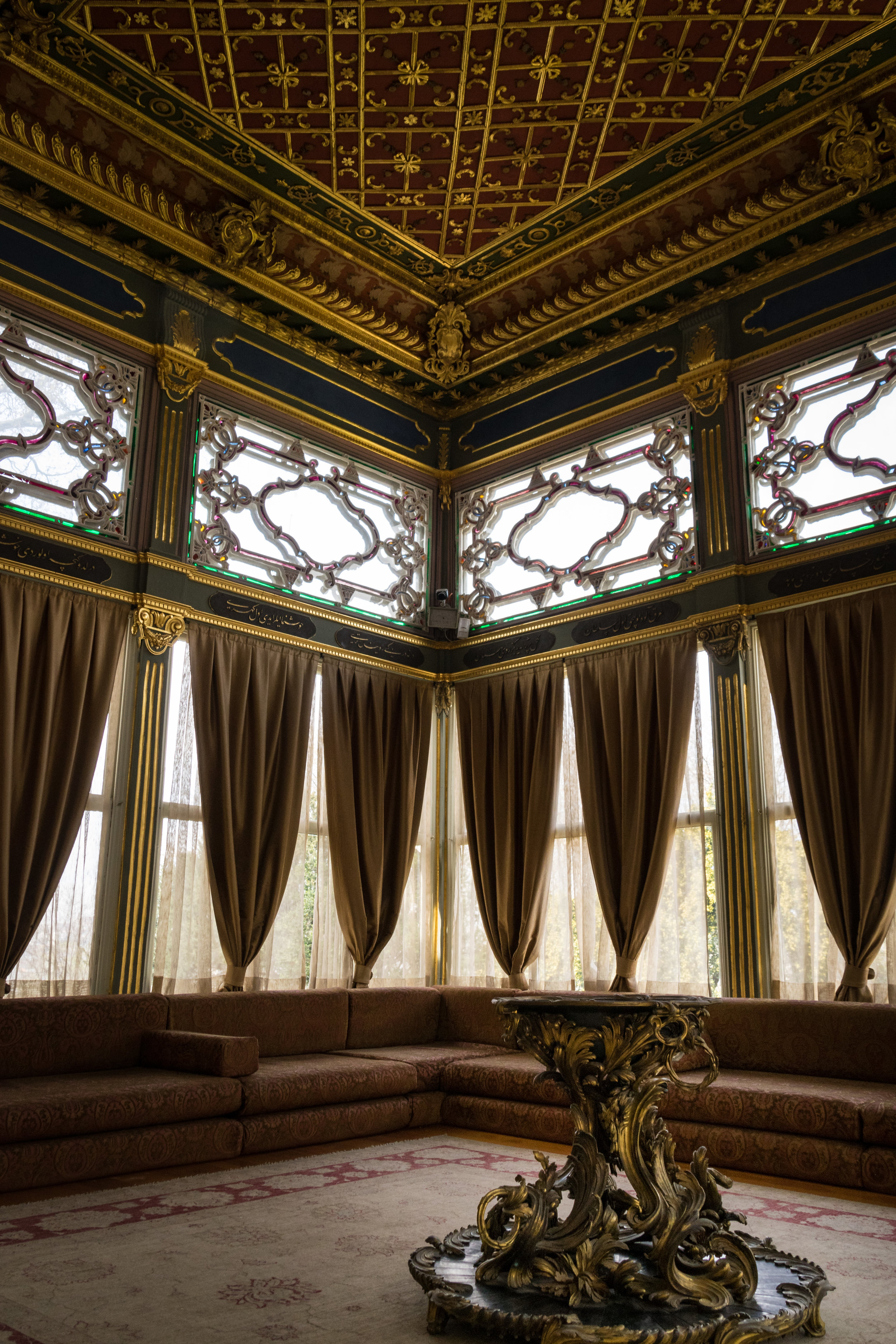 pavilion interior, where sultans watched sporting events