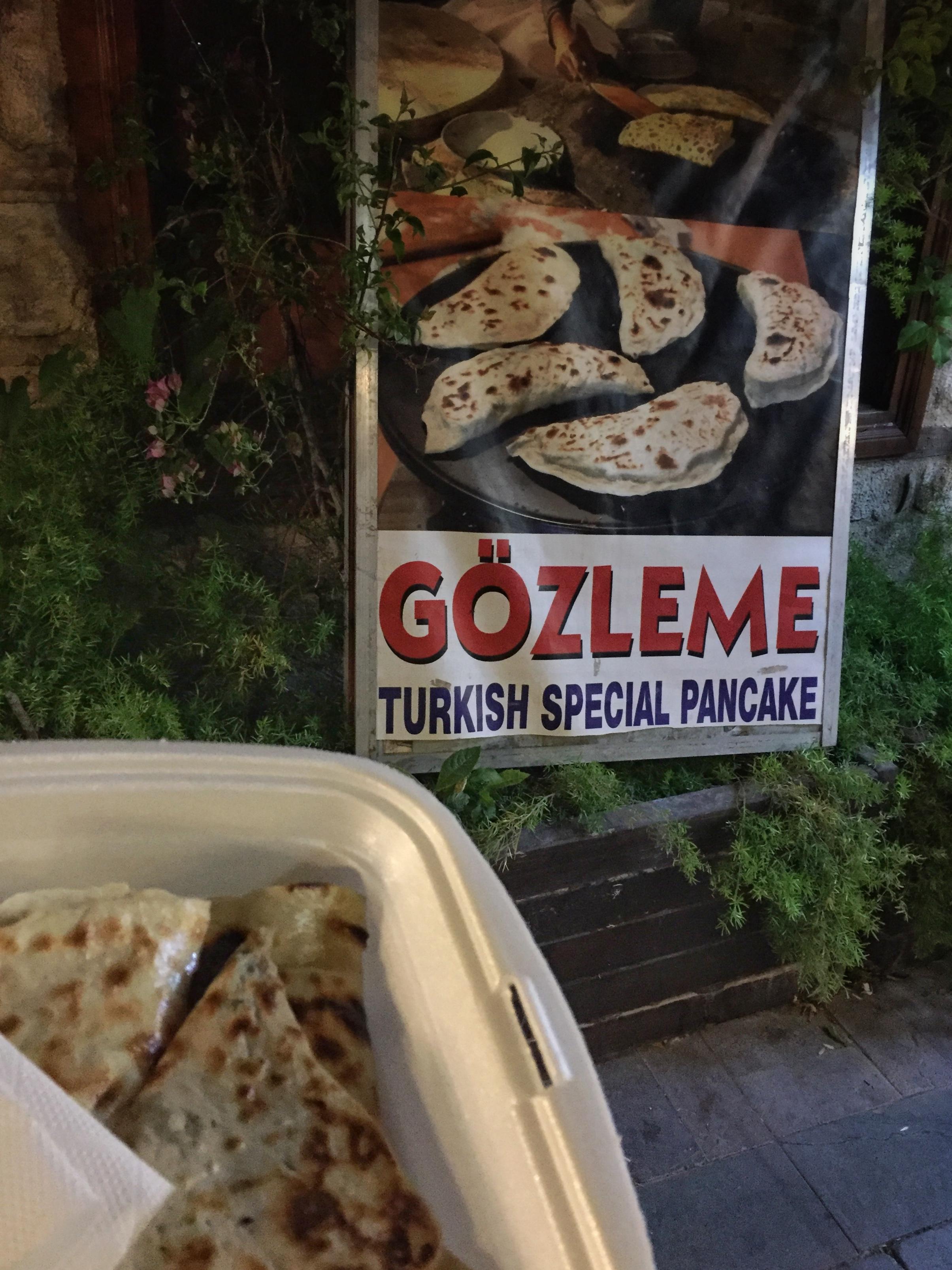 gözleme in Antalya