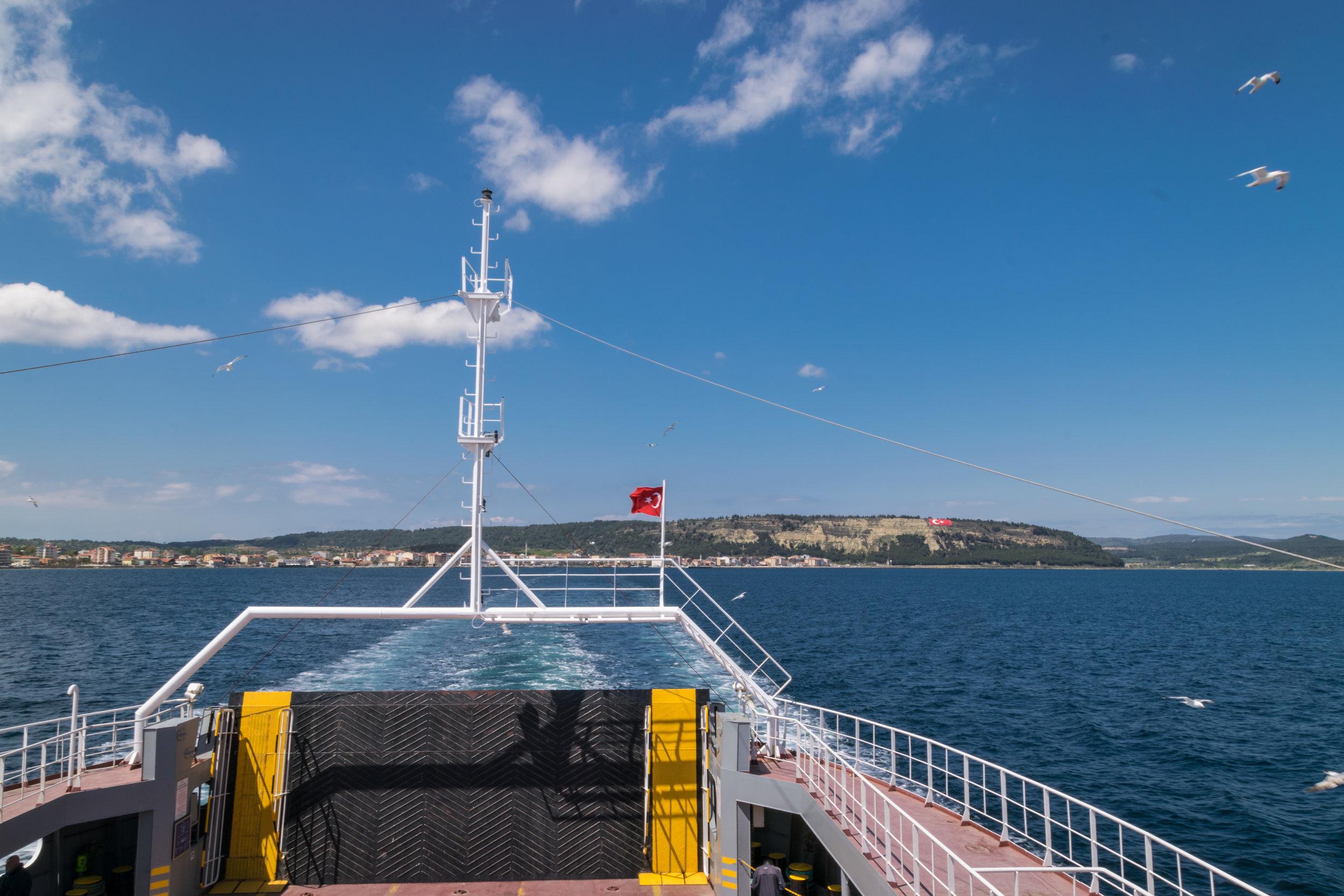 taking the ferry to Çanakkale