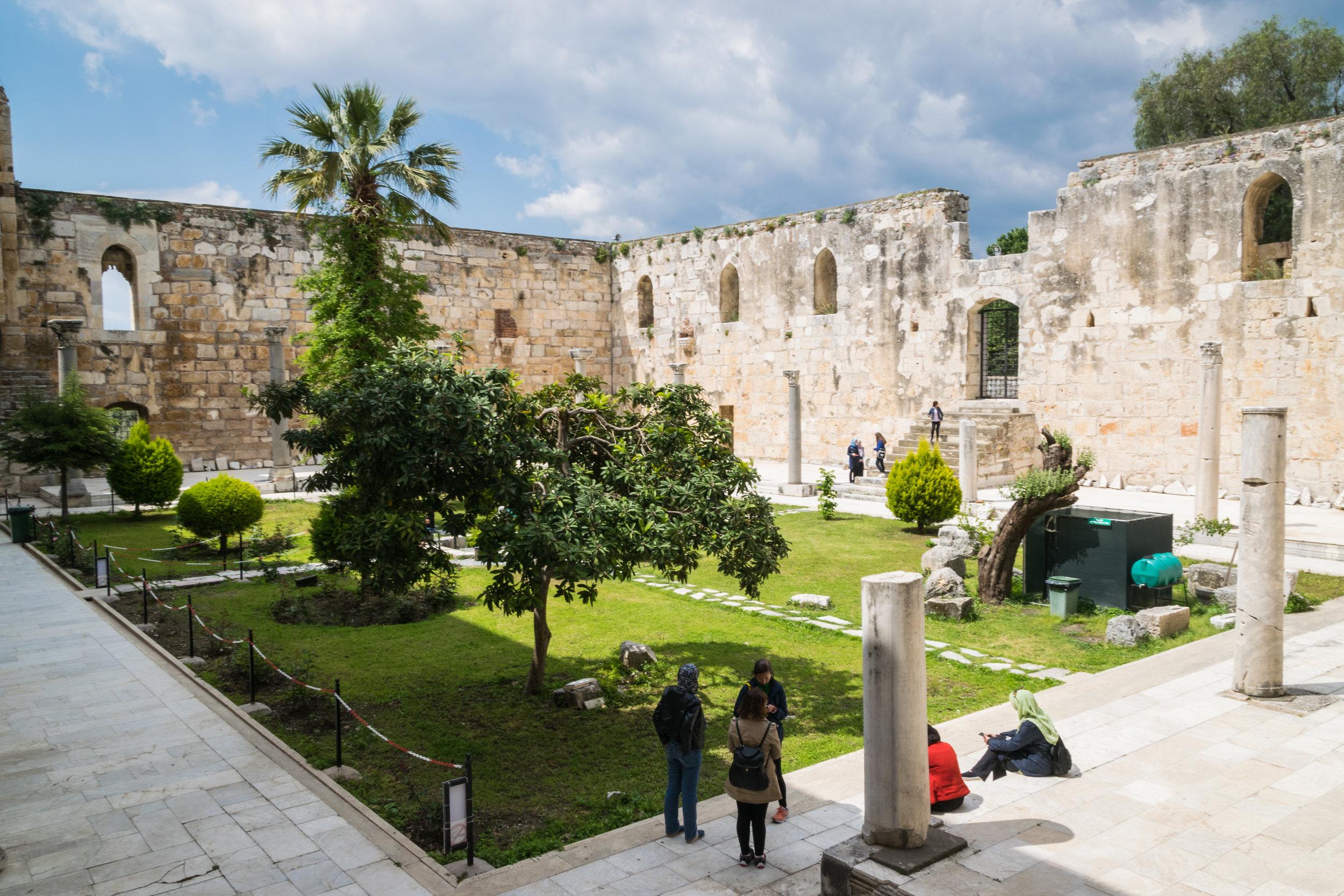 Isa Bey Mosque courtyard