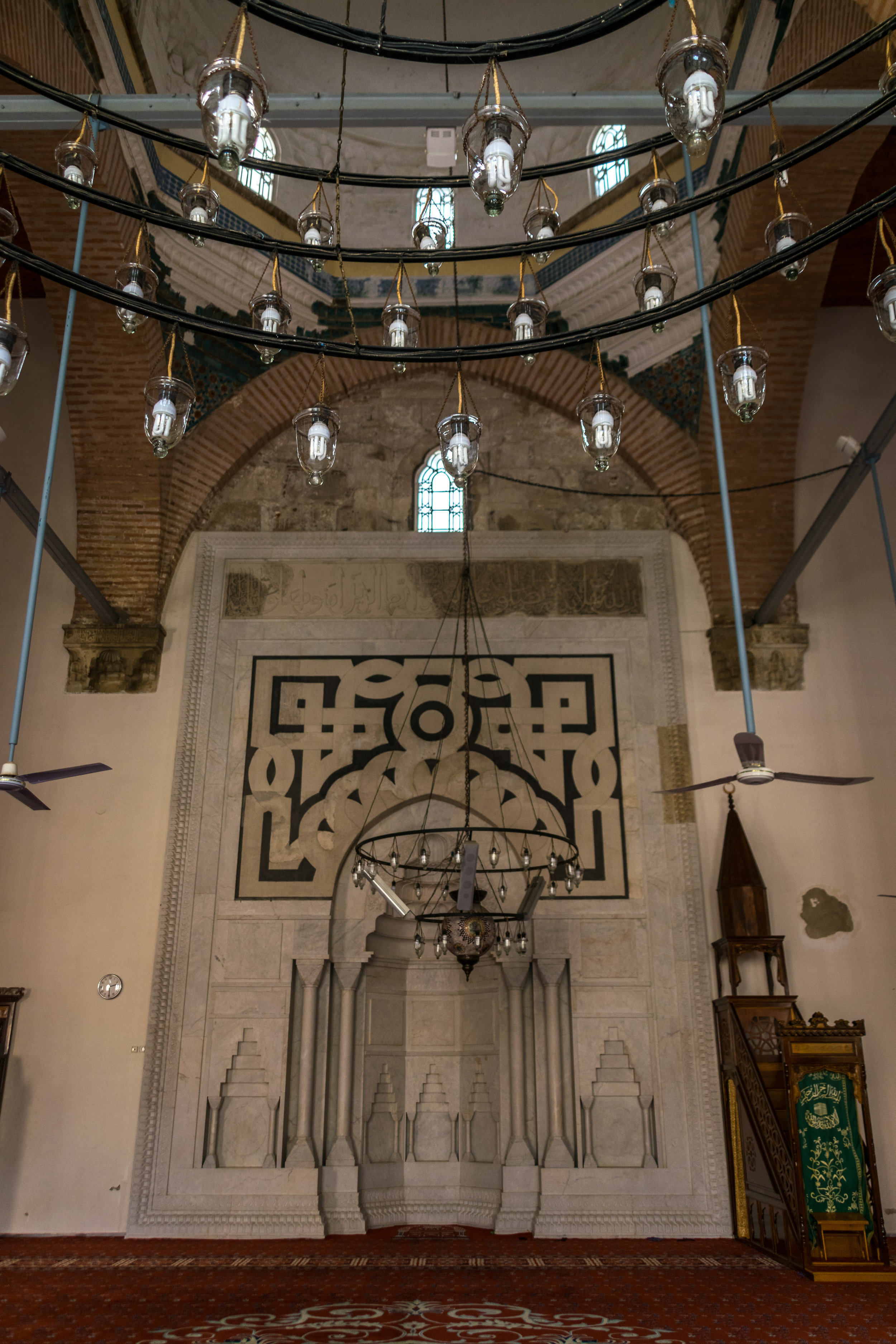 inside the Isa Bey Mosque