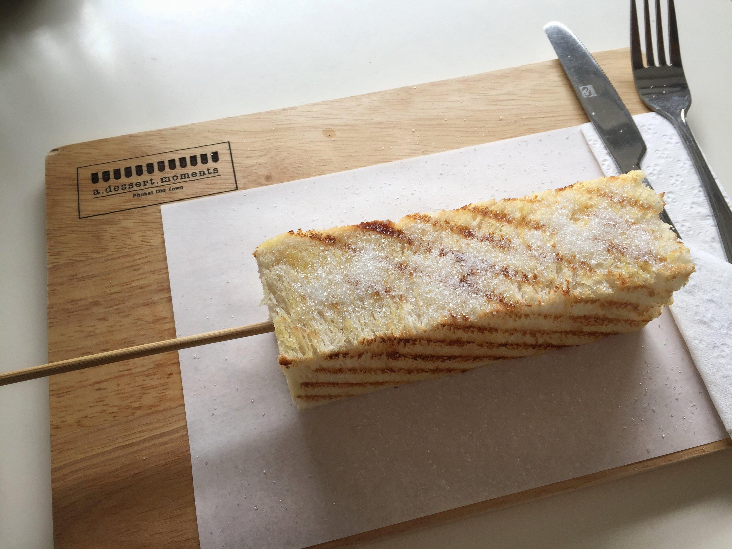 toast on a stick