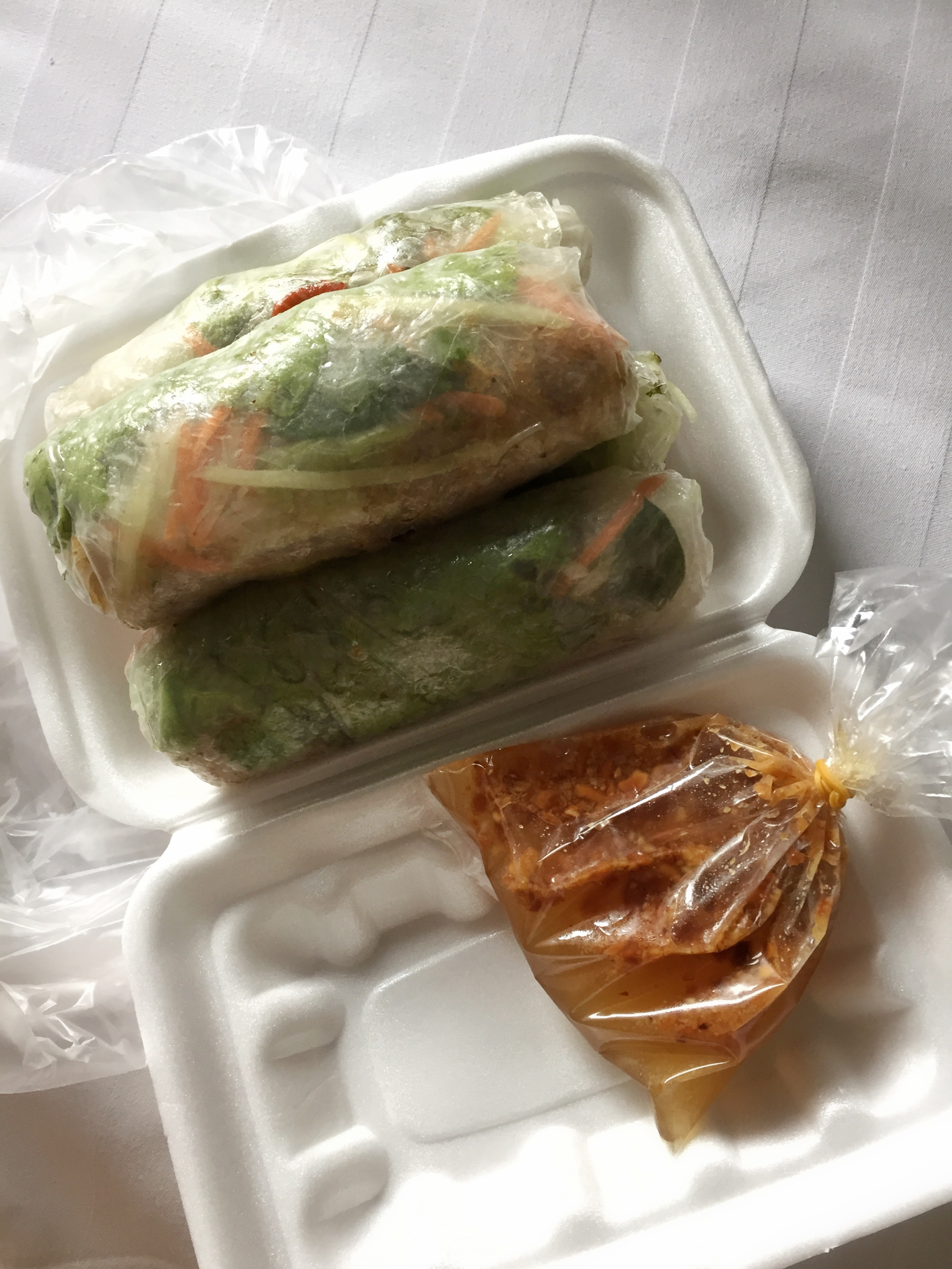 vegetarian spring rolls from PP's Central Market