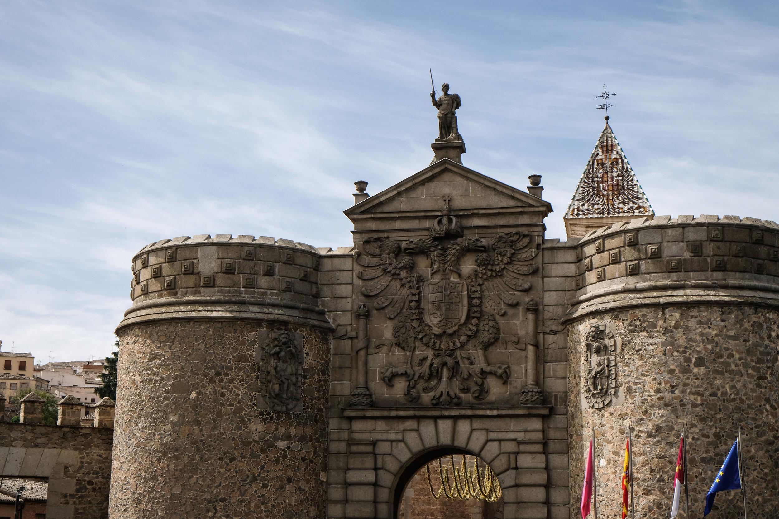 awkward shot of 14th century Puerta del Sol