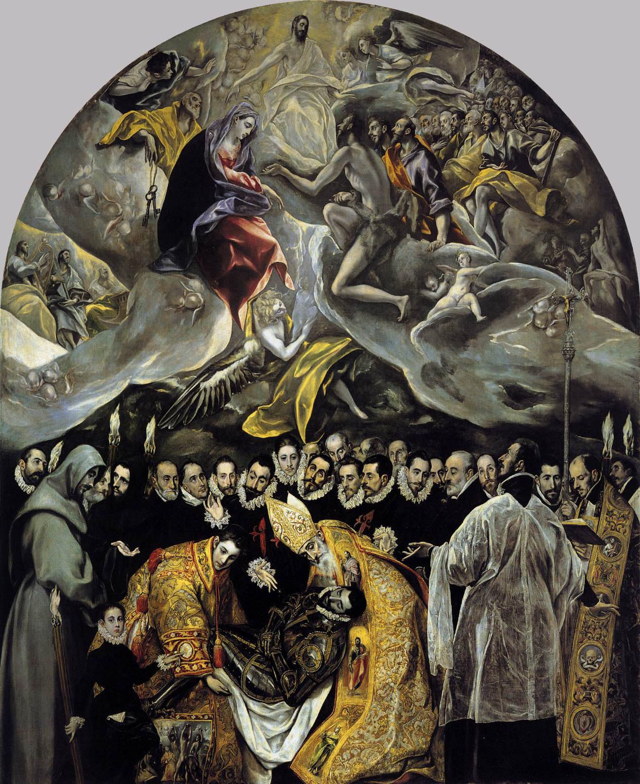 El Entierro del Conde de Orgaz (The Burial of Count Orgaz)  by El Greco (photo credit:  Wikipedia )