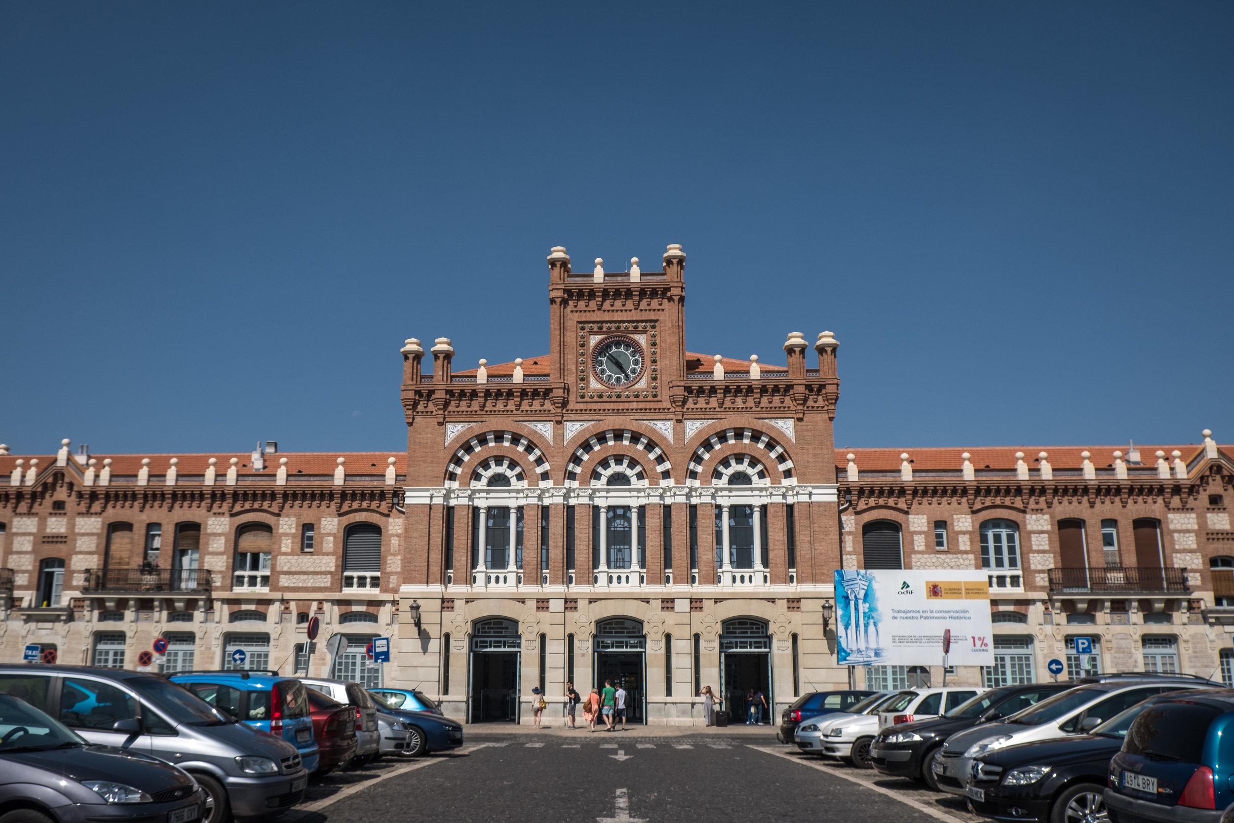 the Neo-Mudéjar-style railway station of Aranjuez