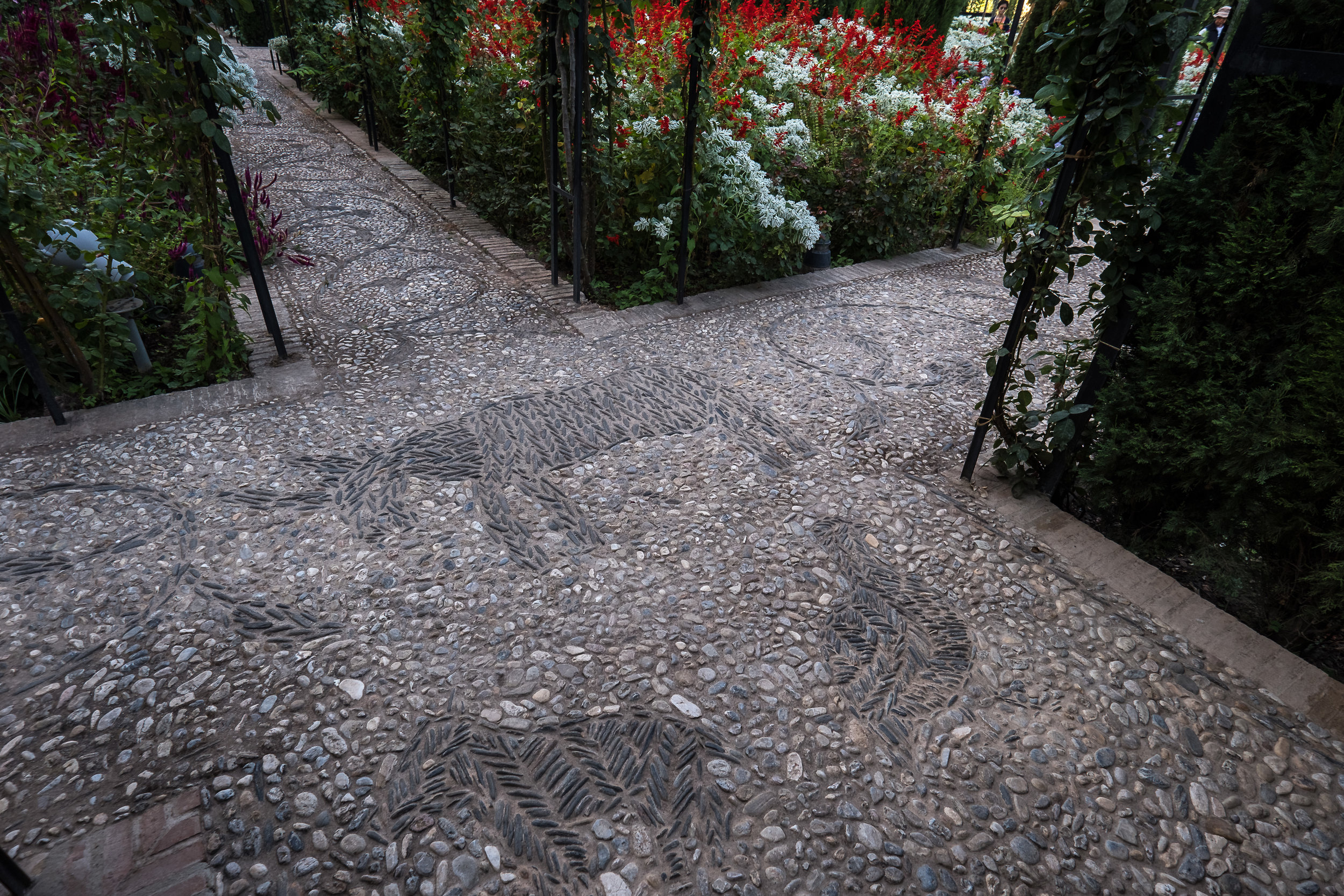 animal mosaics in smooth stones near Generalife