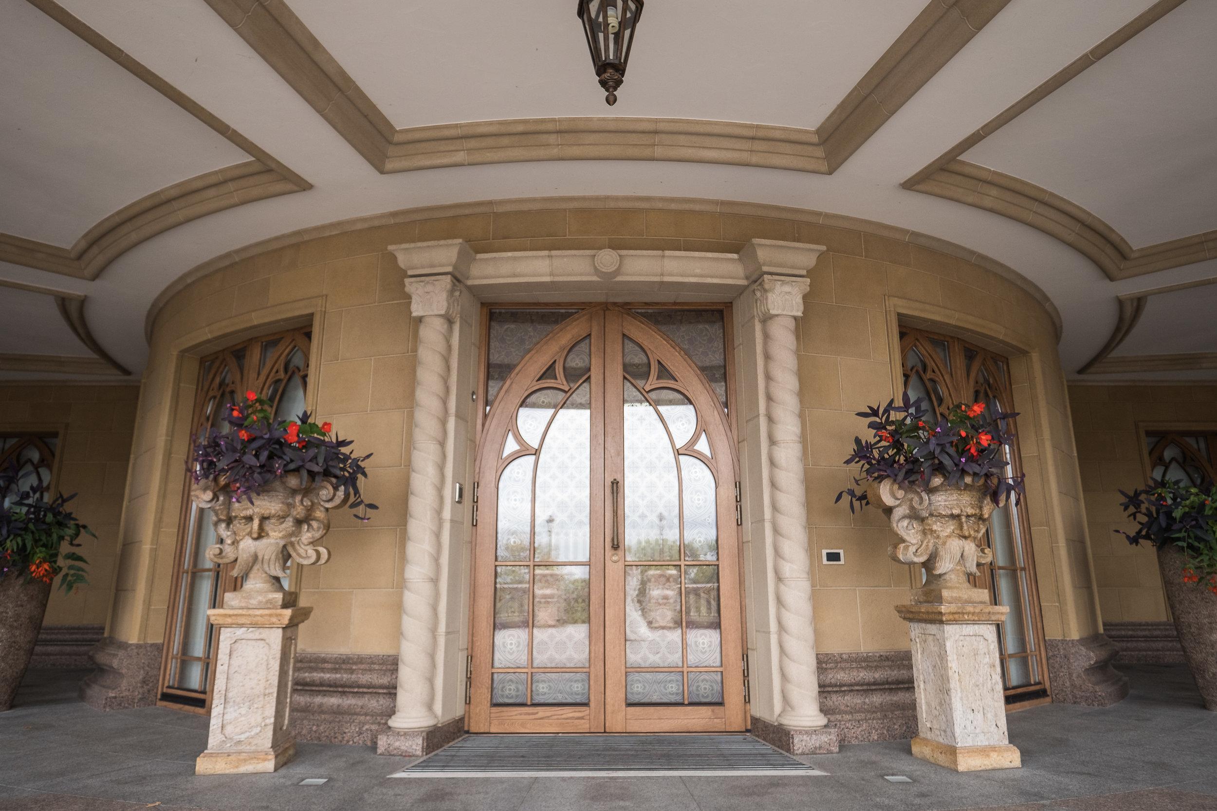 detail of balcony's fine craftsmanship