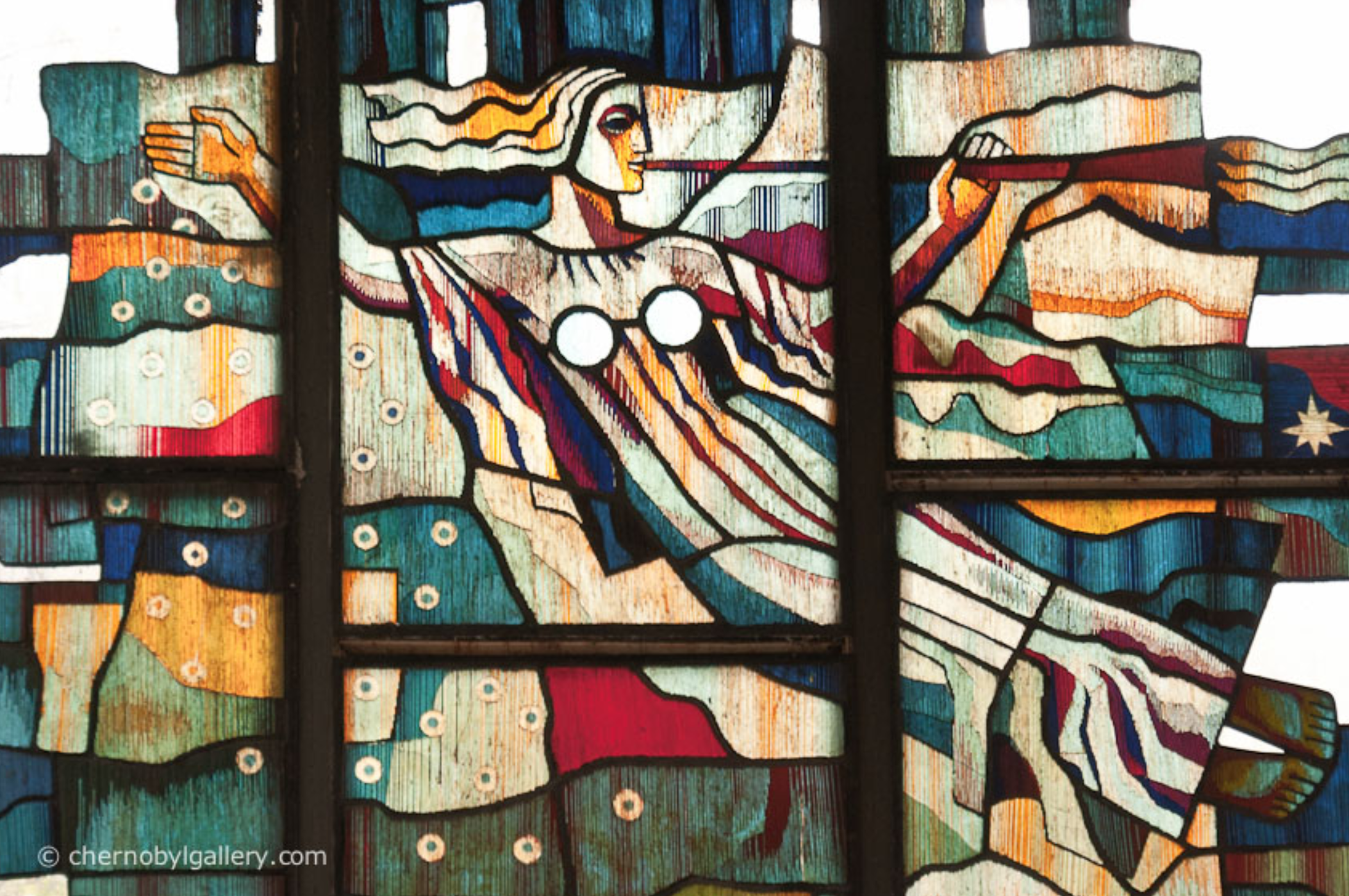 stained glass window facing the street (photo credit: chernobylgallery.com)