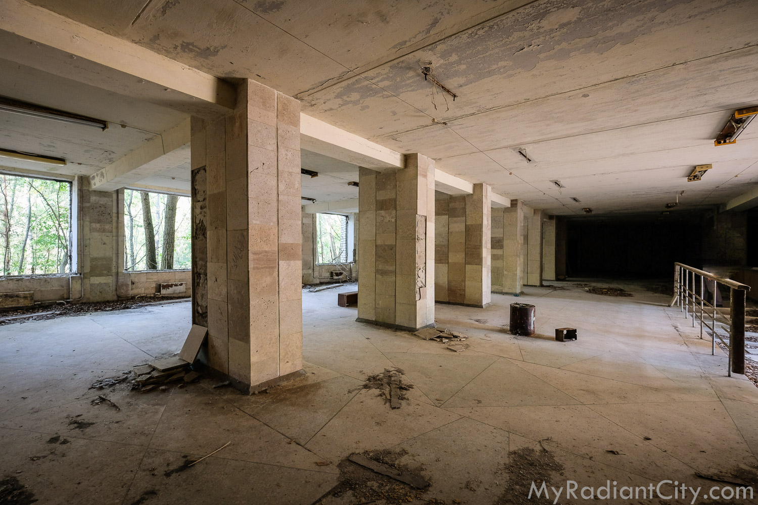 inside; probably the concession area