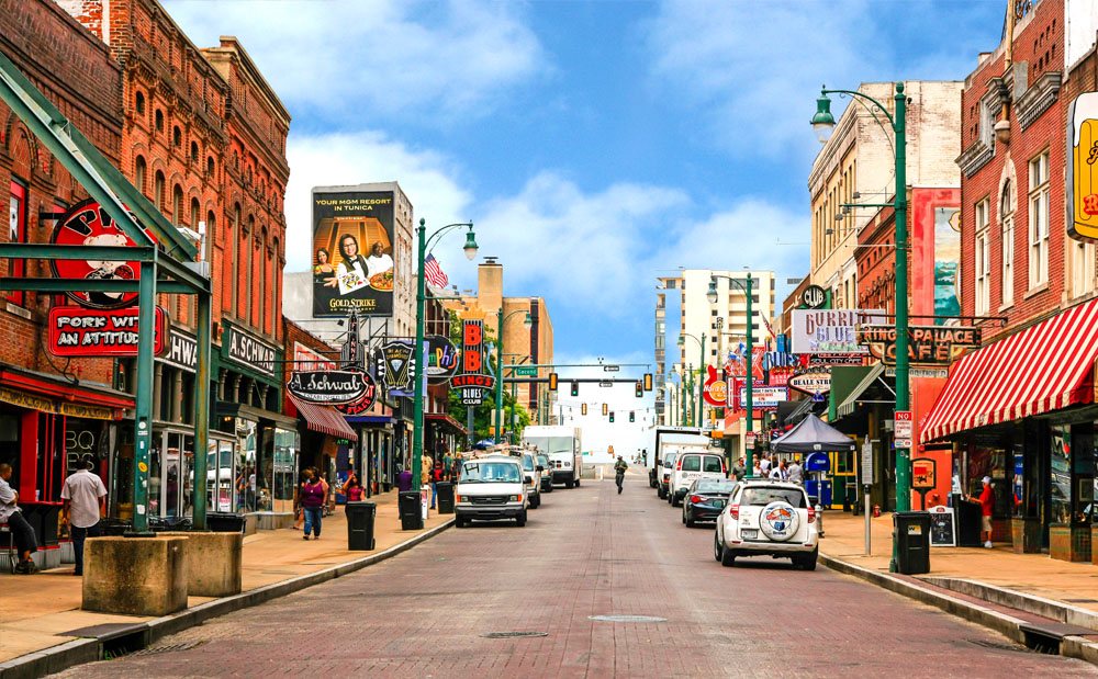 Beale Street during the day (photo credit: milecorp.com)