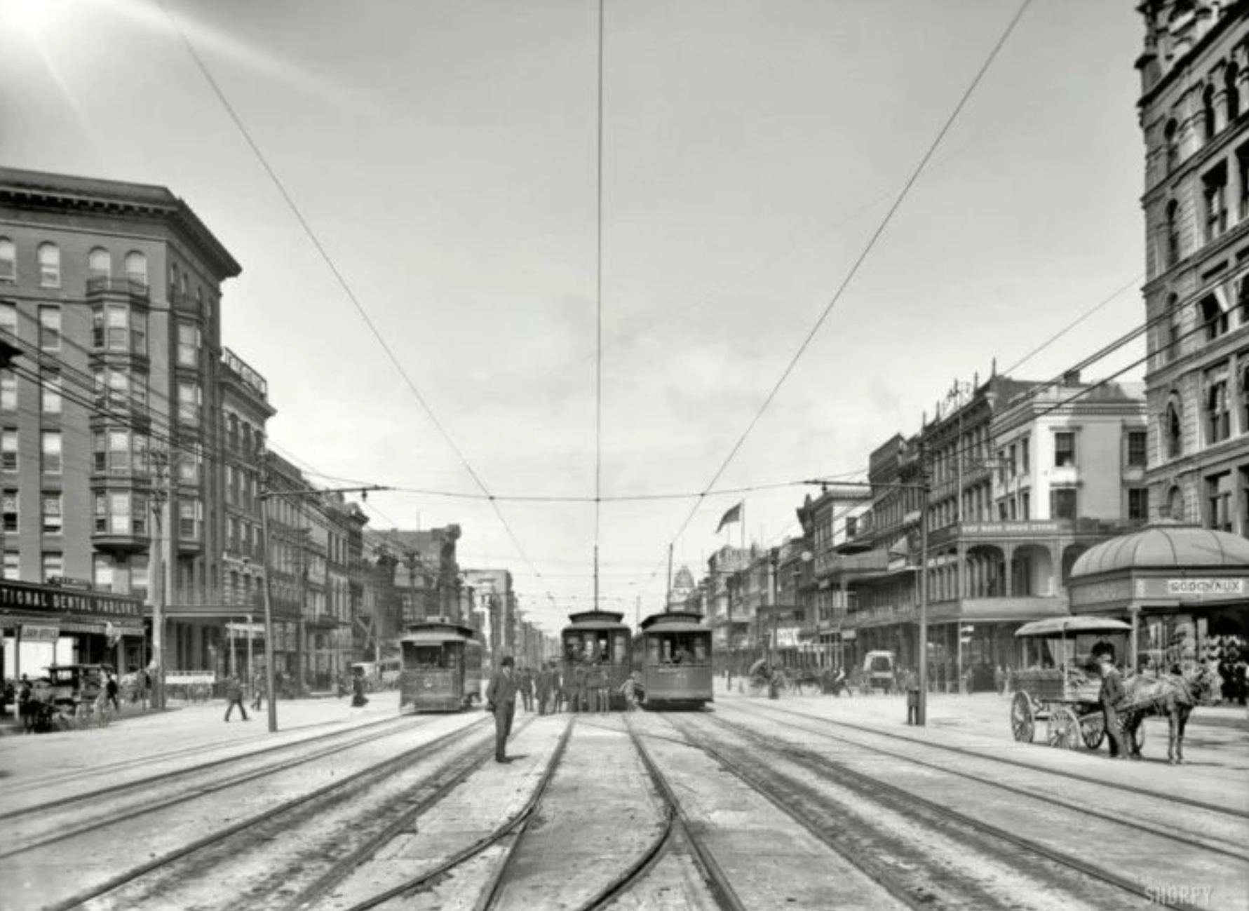 Canal Street circa 1907(photo credit:  onlyinyourstate.com )