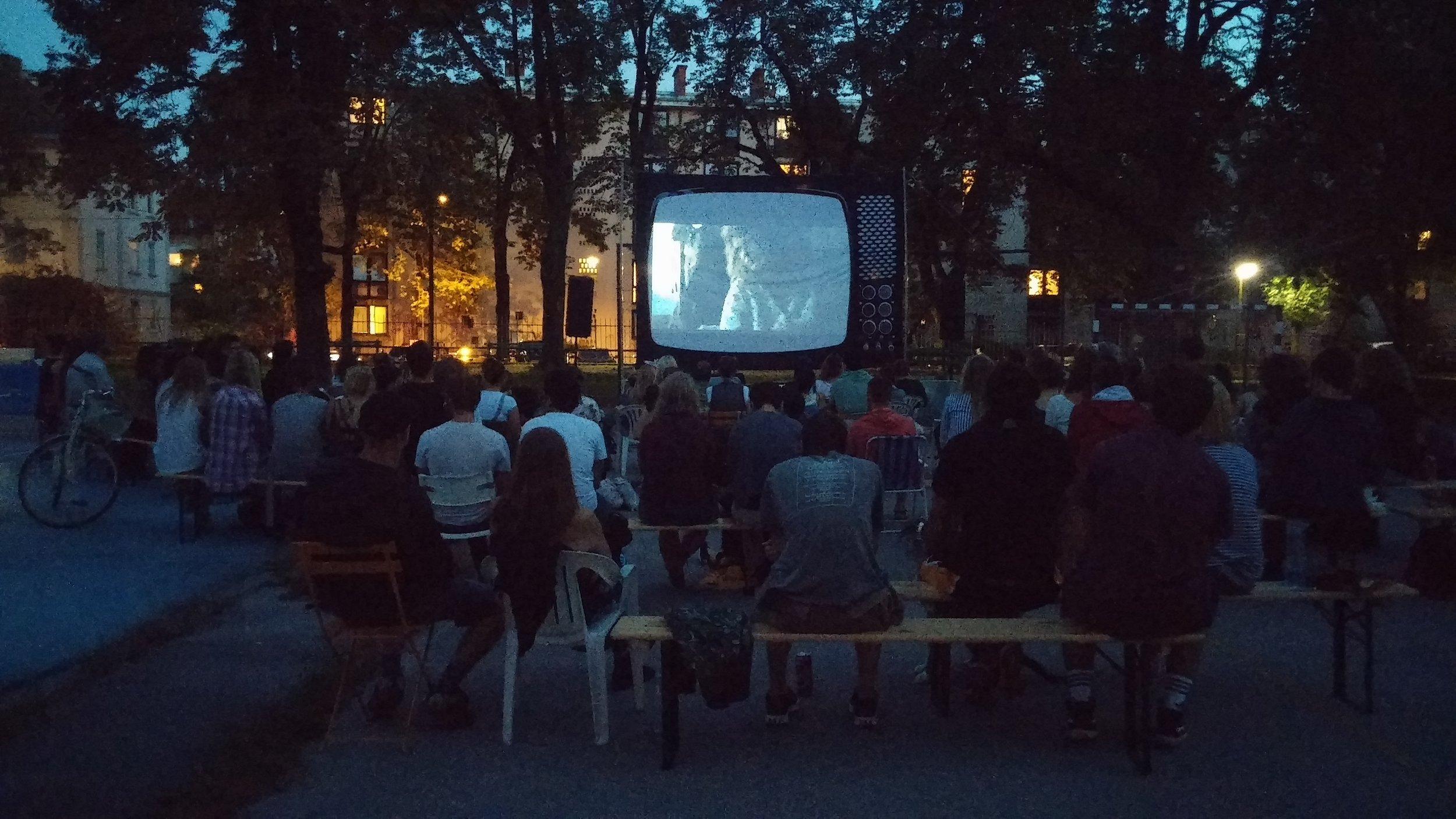 Cinema Park (Kino park) in Tabor park in 2016 (photo credit: prostoRož archive)
