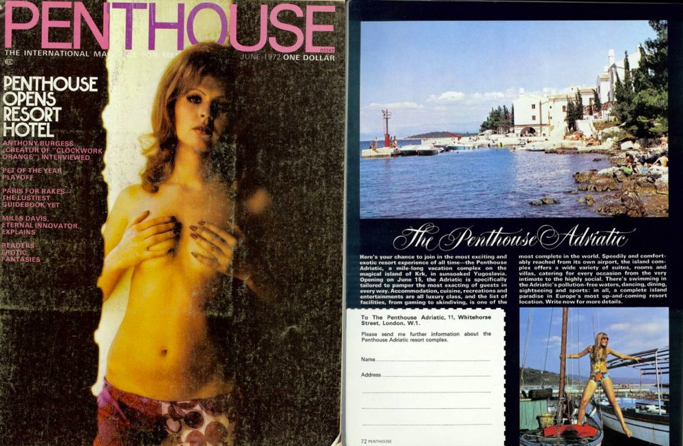 1972 issue of Penthouse with hotel article (photo credit: idisturato.com)