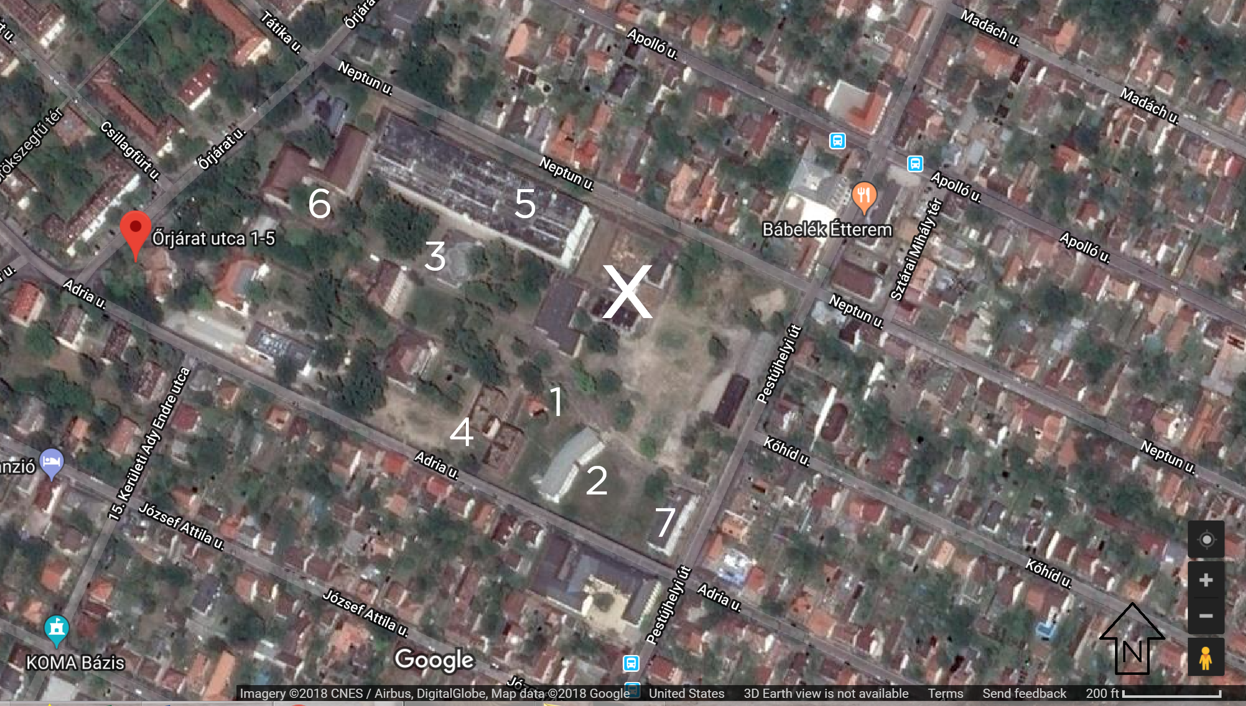 Google Maps January 2018, although some of the buildings were demolished before my December visit