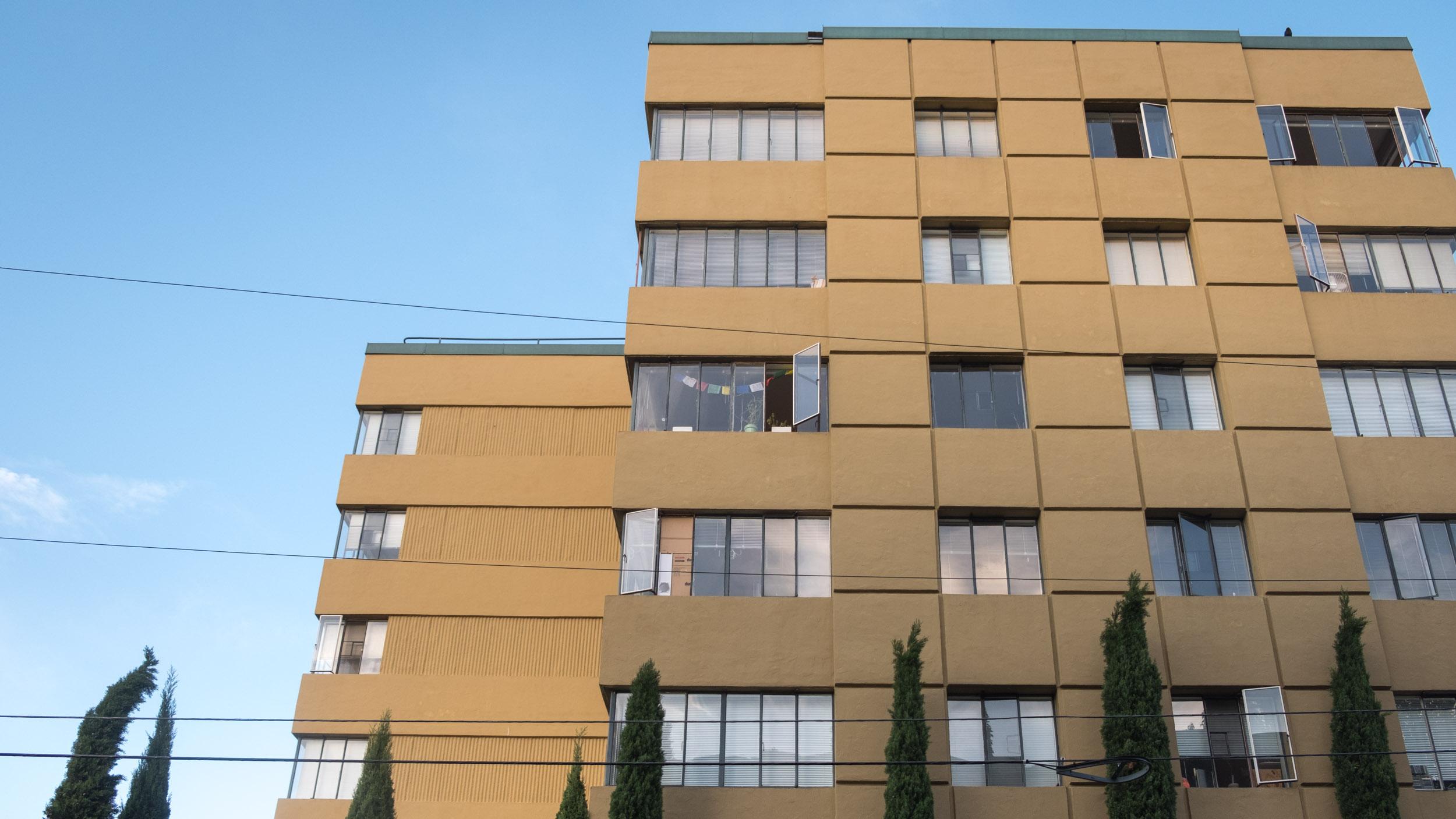 "A very ""Mad Men""-era building, wonder if smoking is still allowed inside....?"