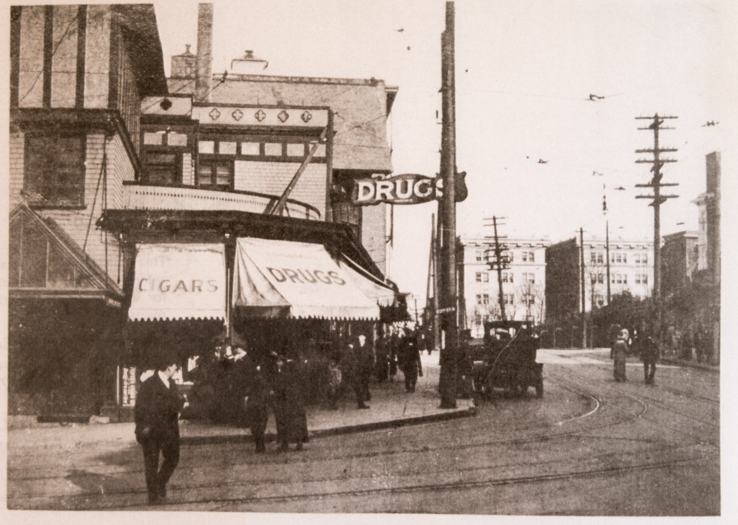Looking across 23rd to east Burnside, date unknown (circa 1920s?)