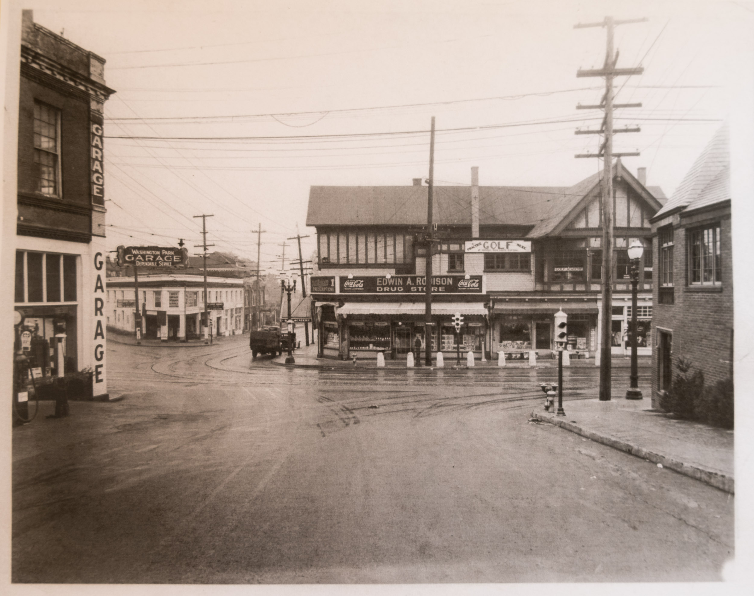 On SW Vista looking across Burnside to 23rd, date unknown