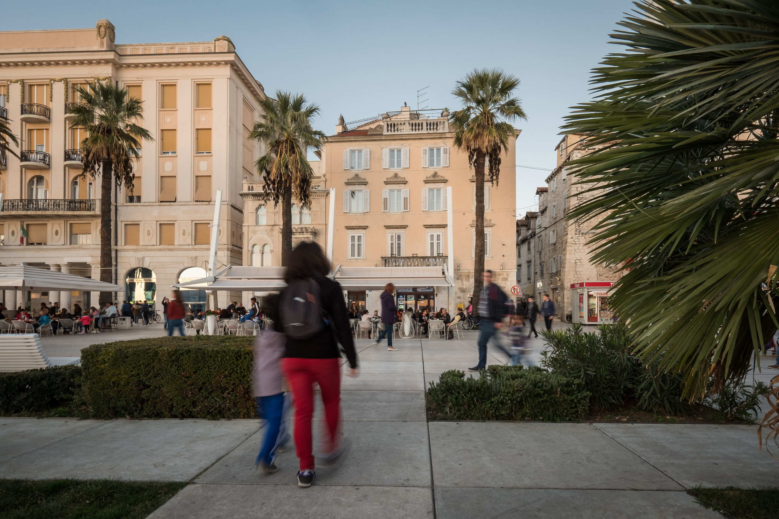 The car-free waterfront of Split, Croatia, a stunning example of people-oriented spaces done right