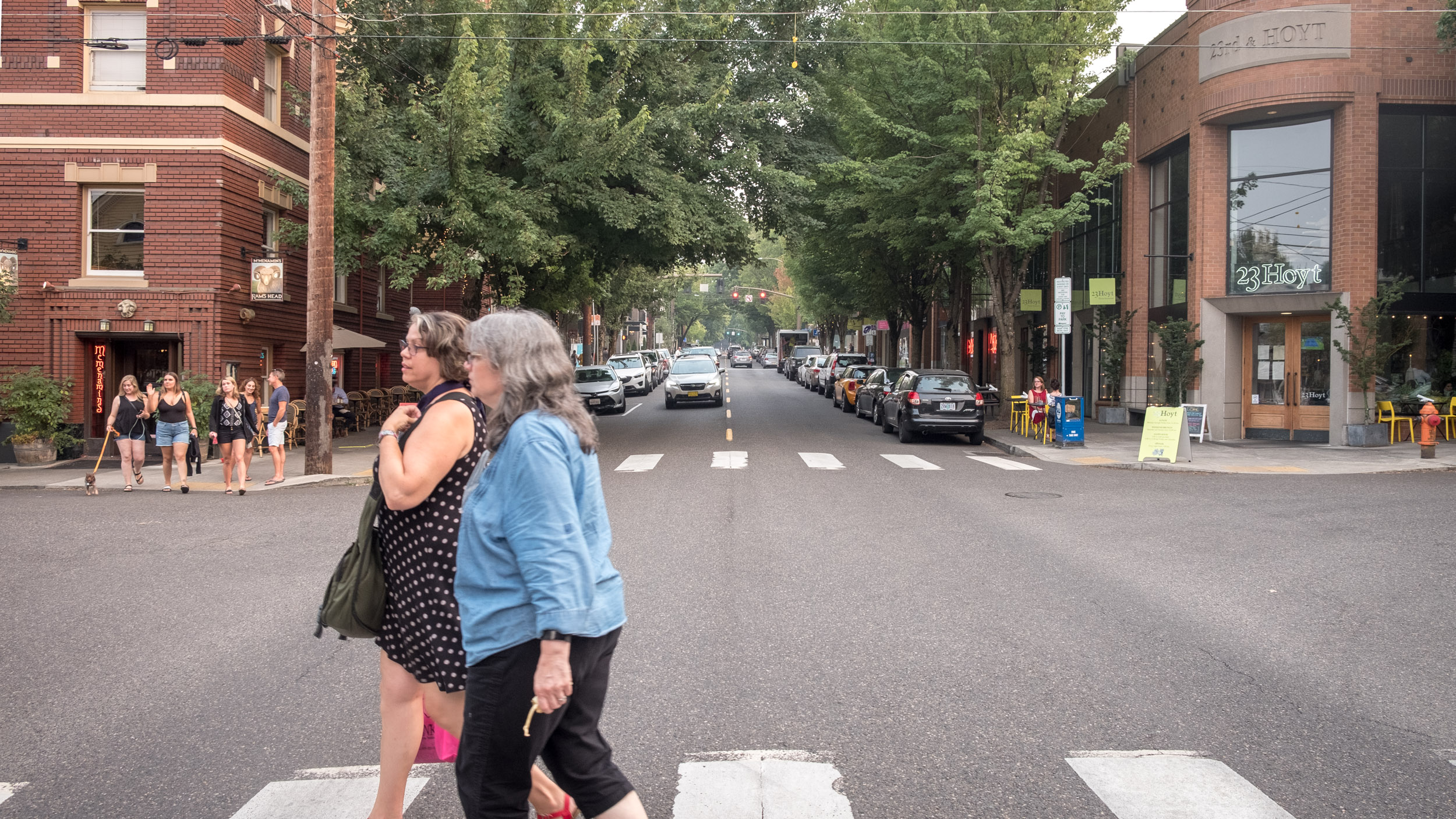 Crosswalks are nice, safe spaces for people are nicer