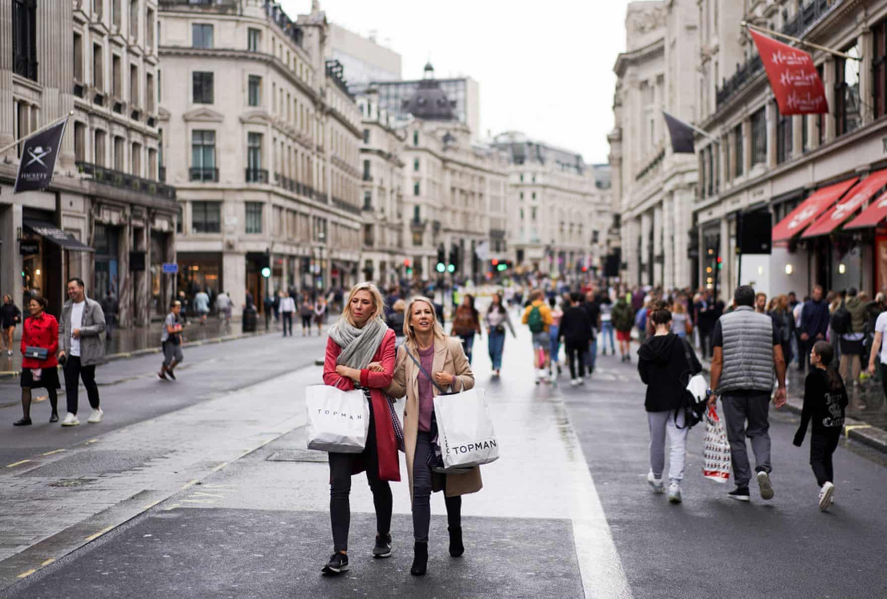 London's Regent Street on car free day 2019 (photo credit  theguardian.com.uk )